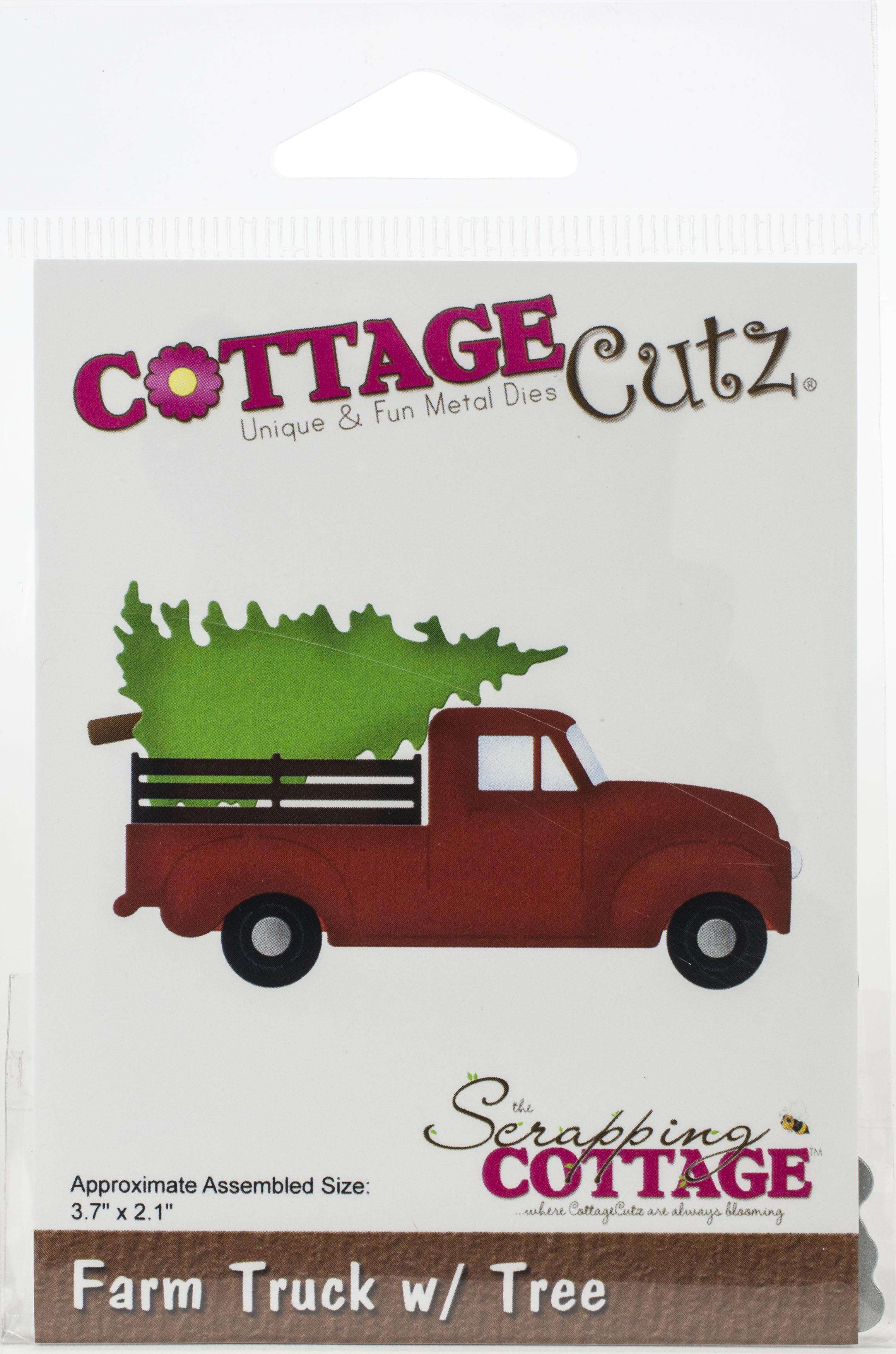 CottageCutz Dies-Farm Truck W/Tree, 3.7X2.1