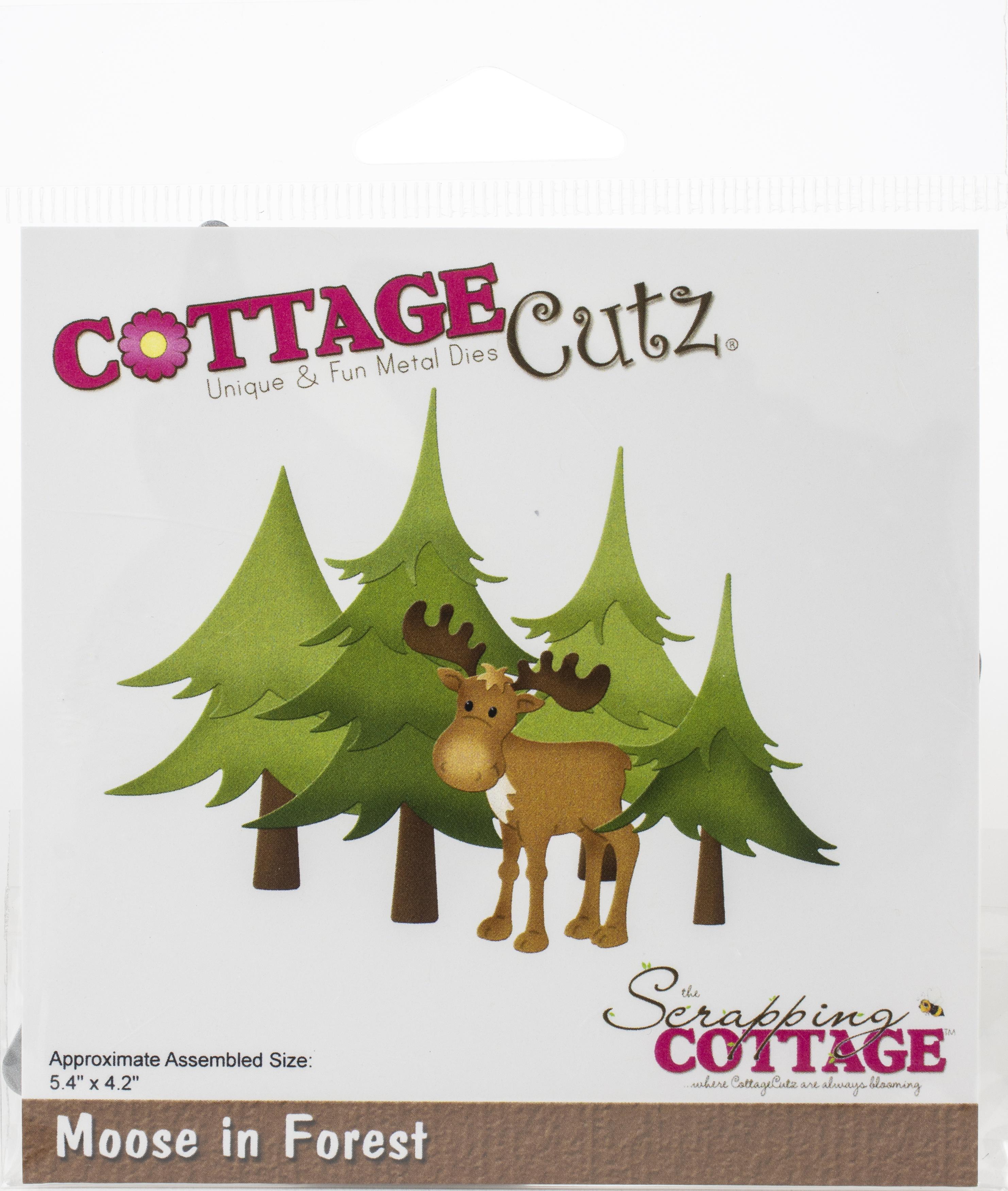 CottageCutz Dies-Moose In Forest, 5.4X4.2