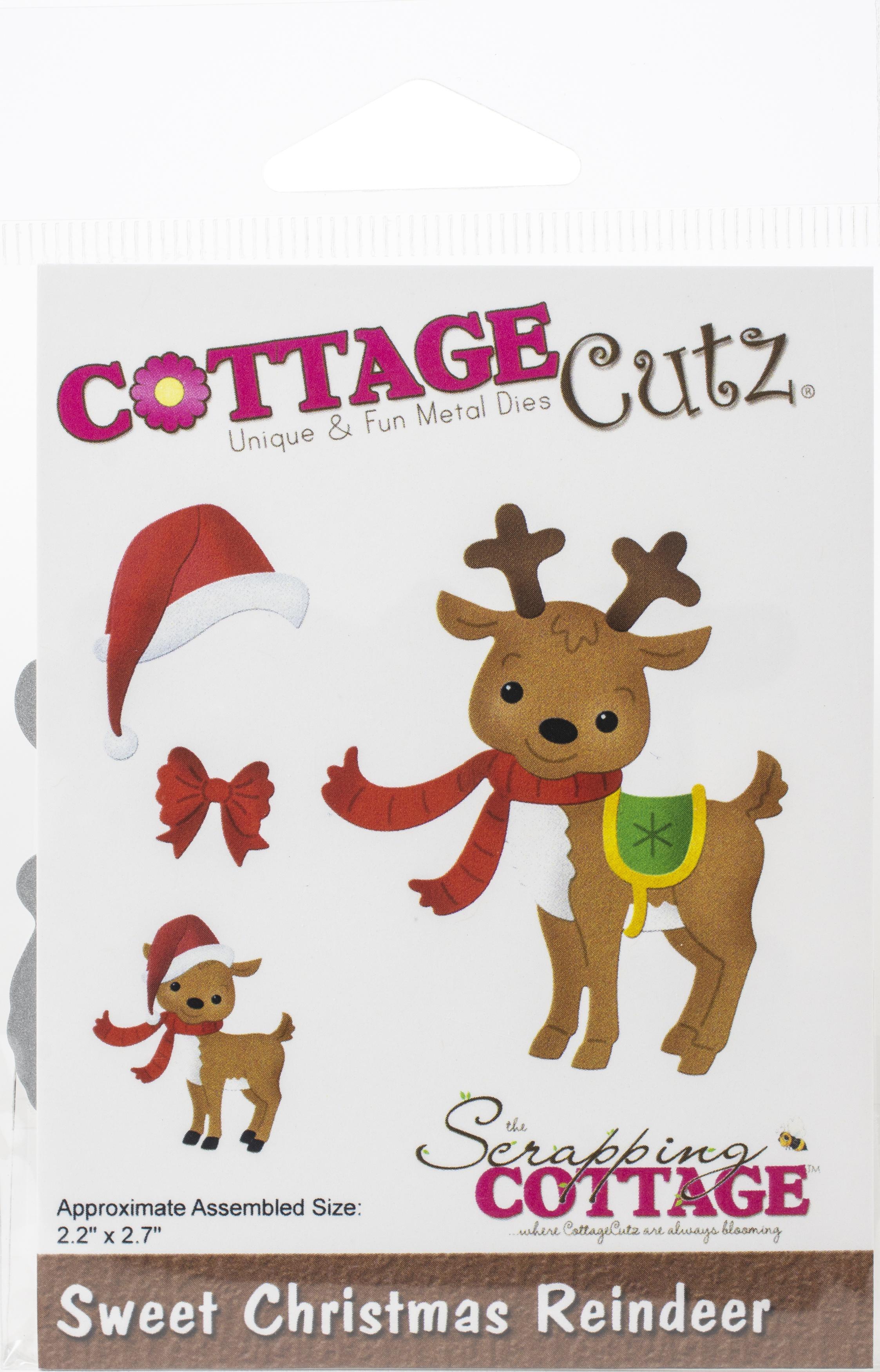CottageCutz Dies-Sweet Christmas Reindeer, 2.2X2.7