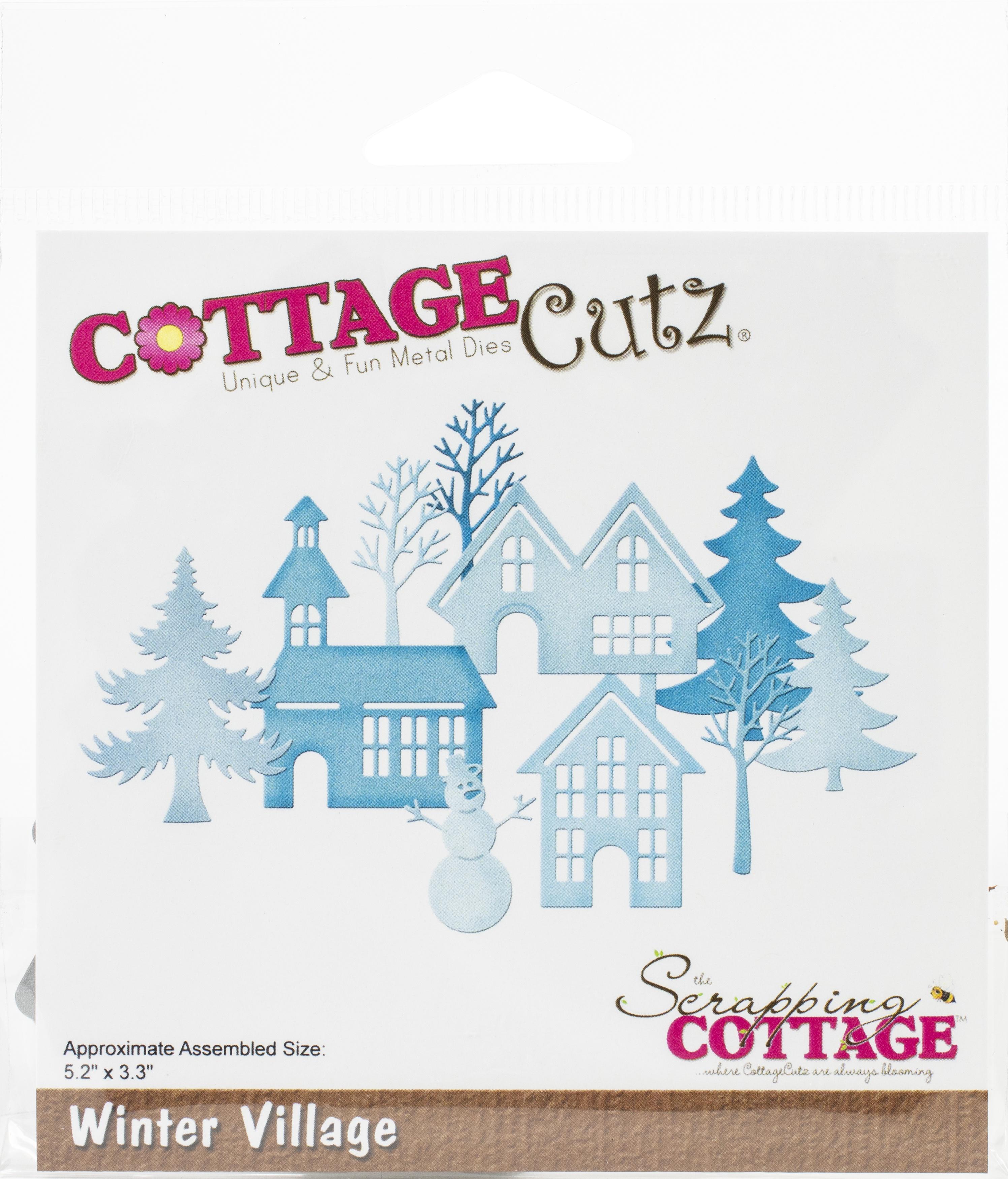 CottageCutz Dies-Winter Village, 5.2X3.3
