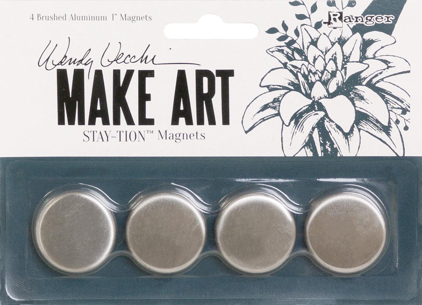 Wendy Vecchi MAKE ART Stay-tion 1 Magnets 4/Pkg-