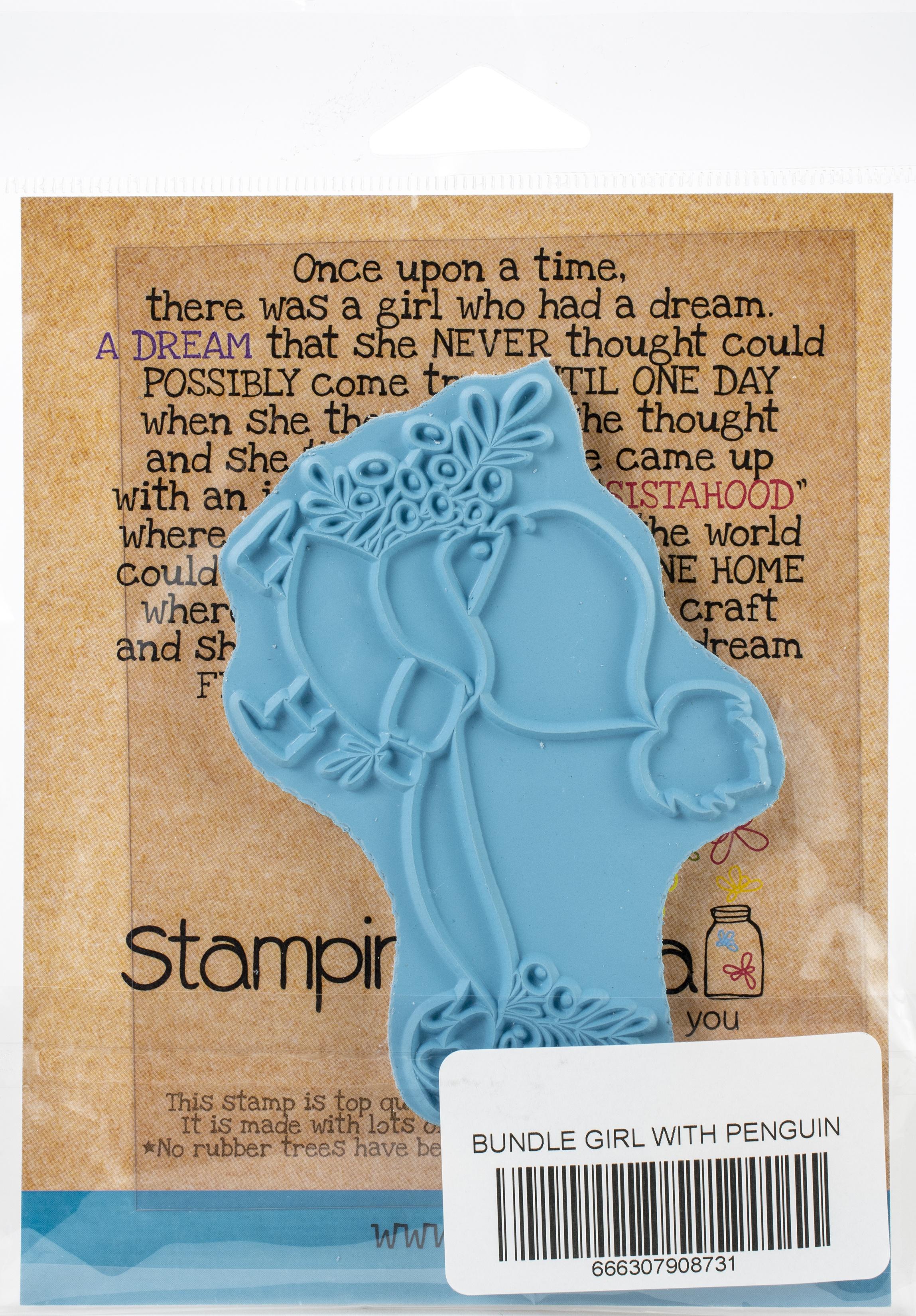 Bundle Girl W/Penguin Stamp
