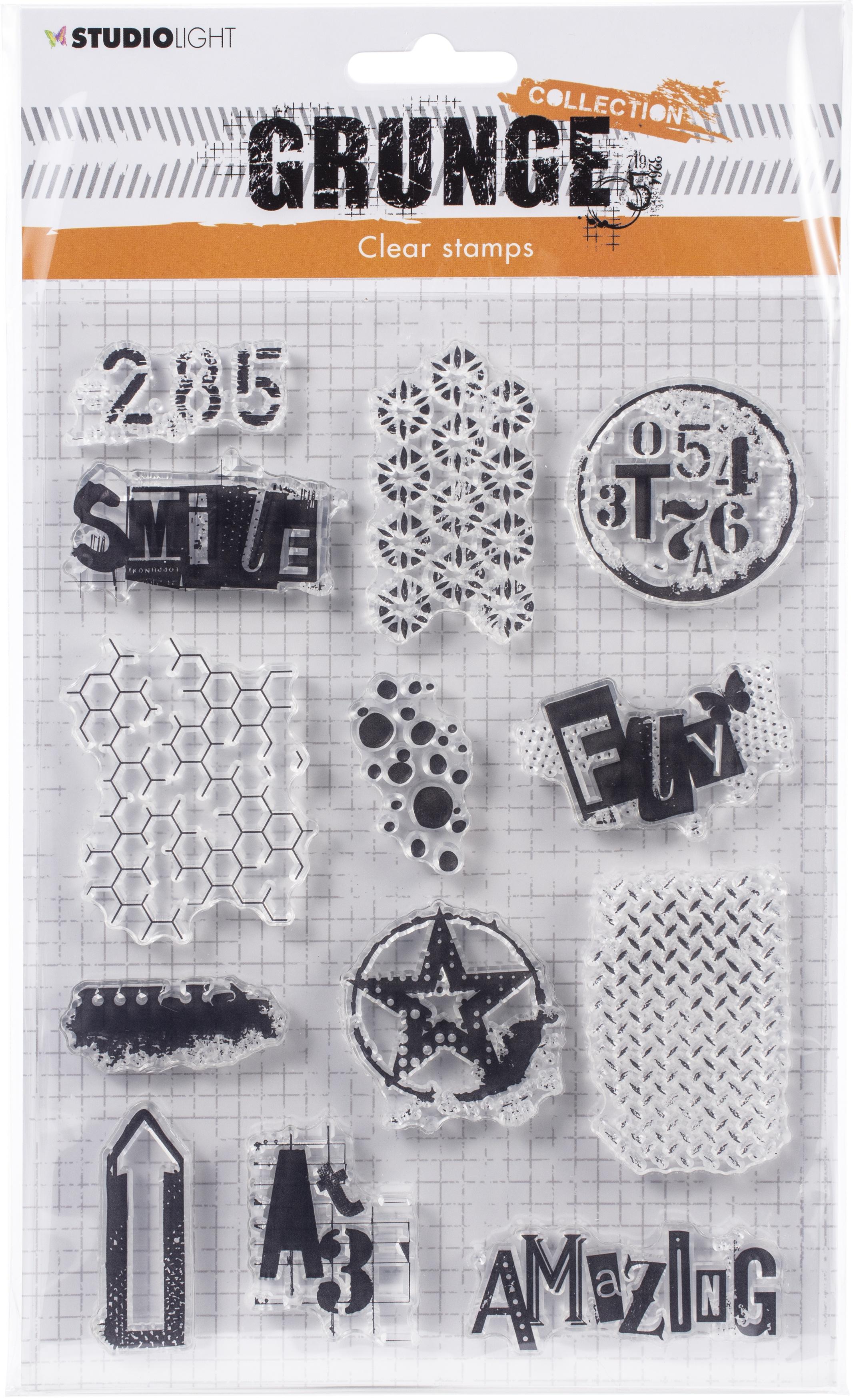 Studio Light Grunge 3.0 Collection A5 Stamp-NR. 408