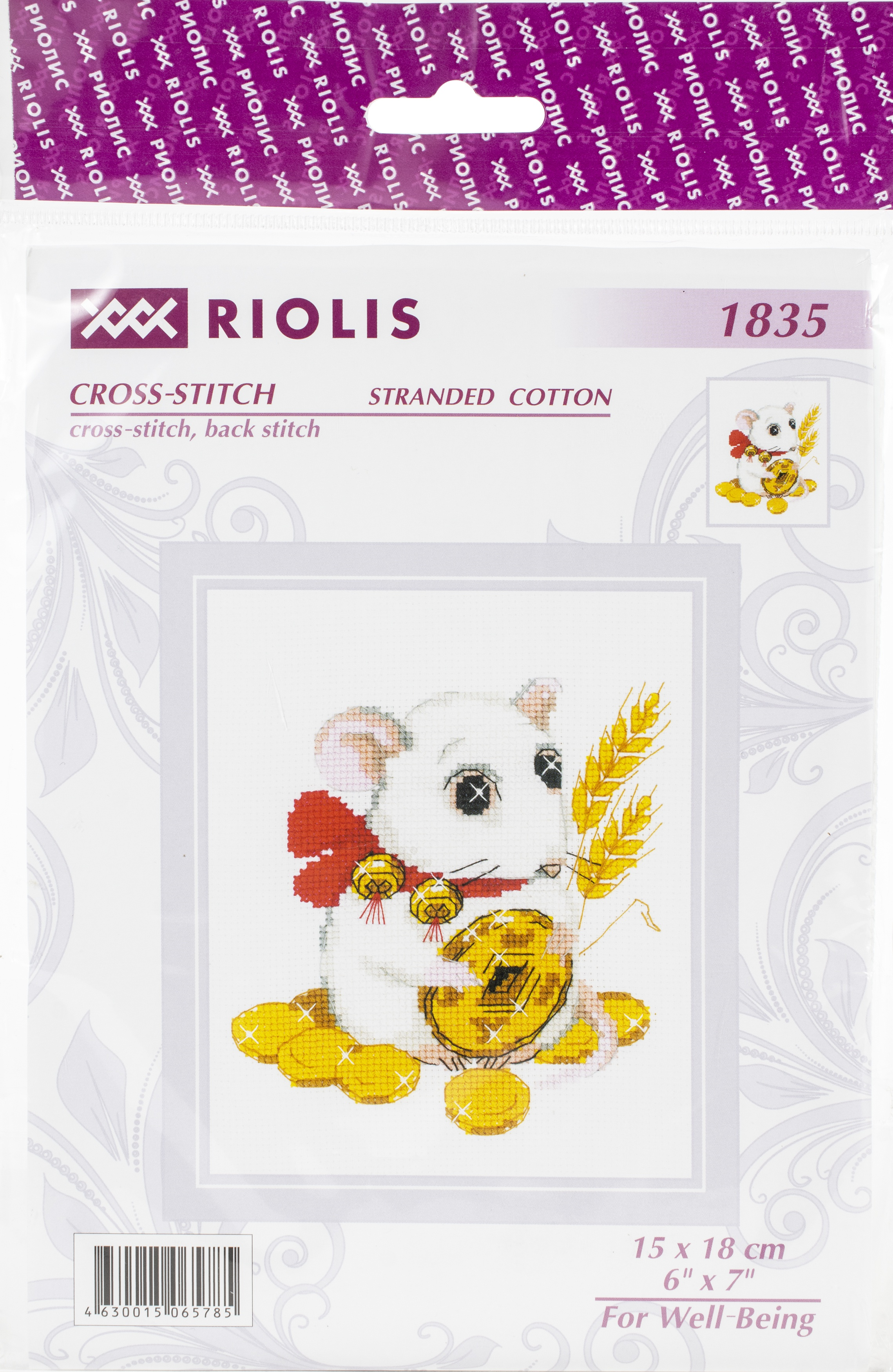 RIOLIS Counted Cross Stitch Kit 6X7-For Well-Being (14 Count)