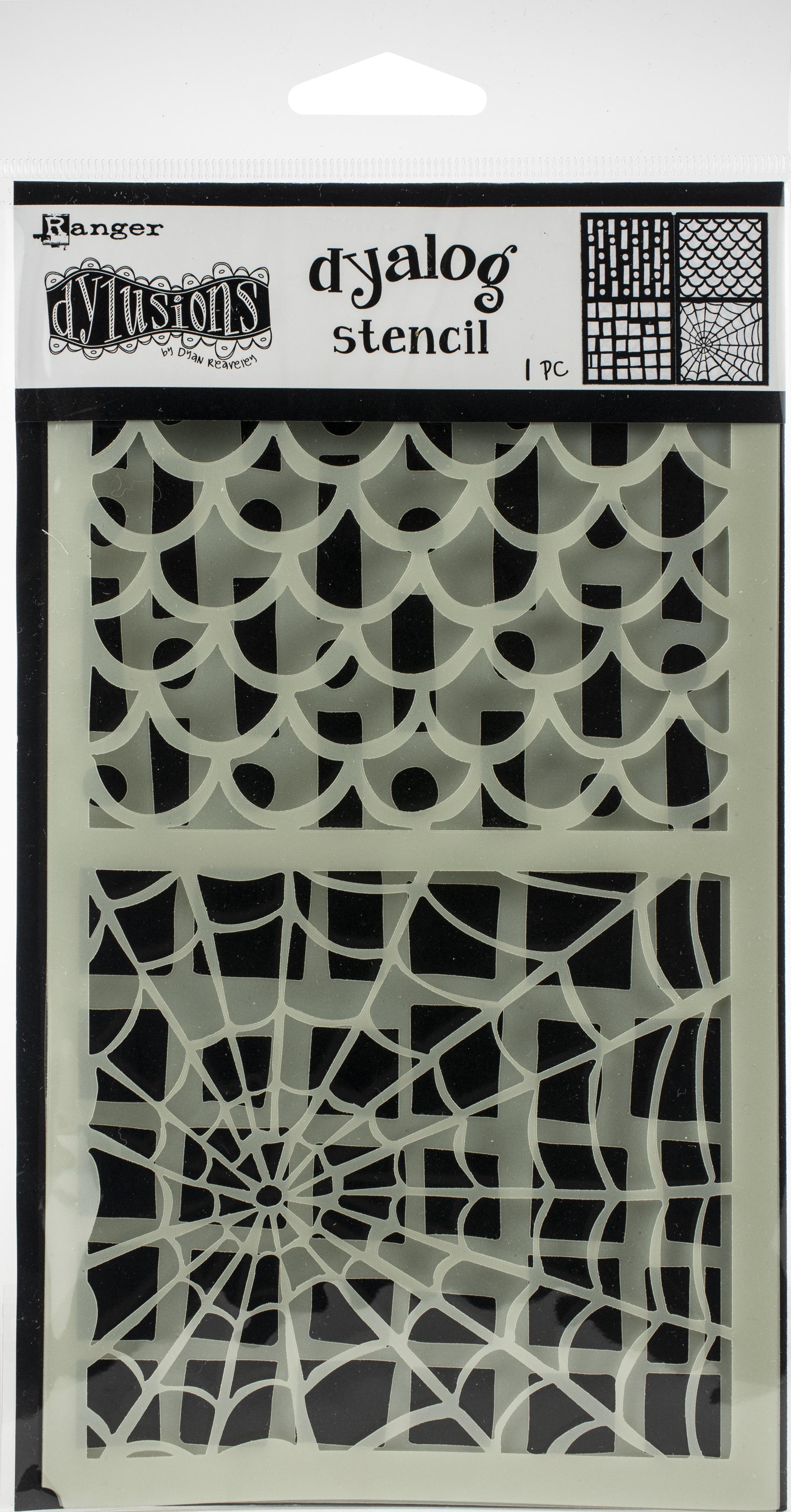 Dyan Reaveley's Dylusions Dyalog Stencil-Stencil It Too