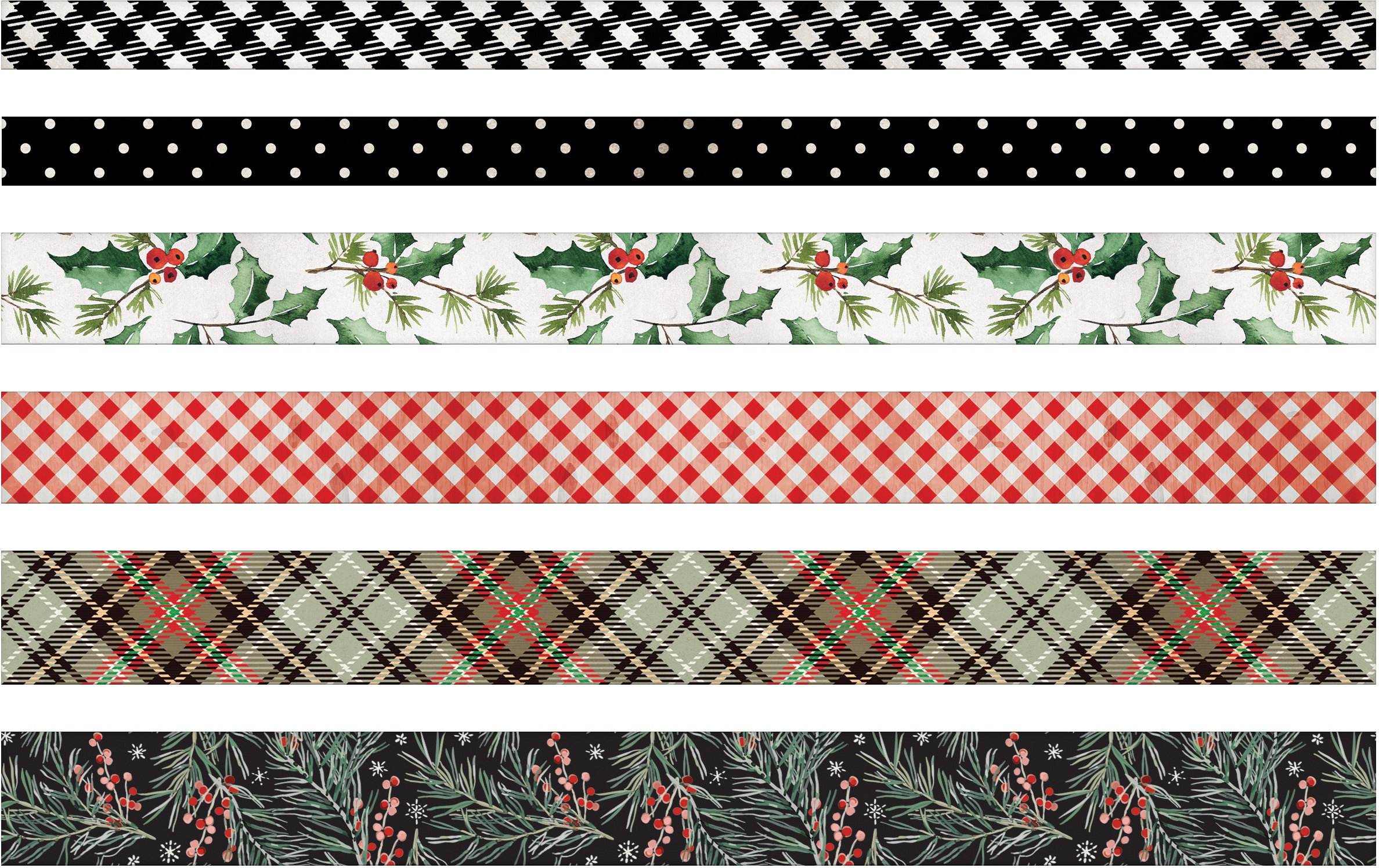 Idea-Ology Design Tape 6/Pkg-Christmas