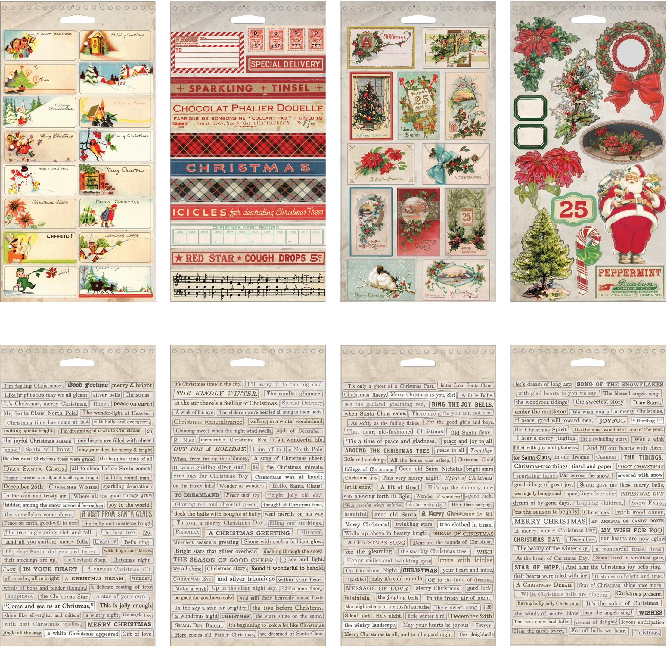 Idea-Ology Sticker Book 4.5X8.75-Christmas, 335/Pkg