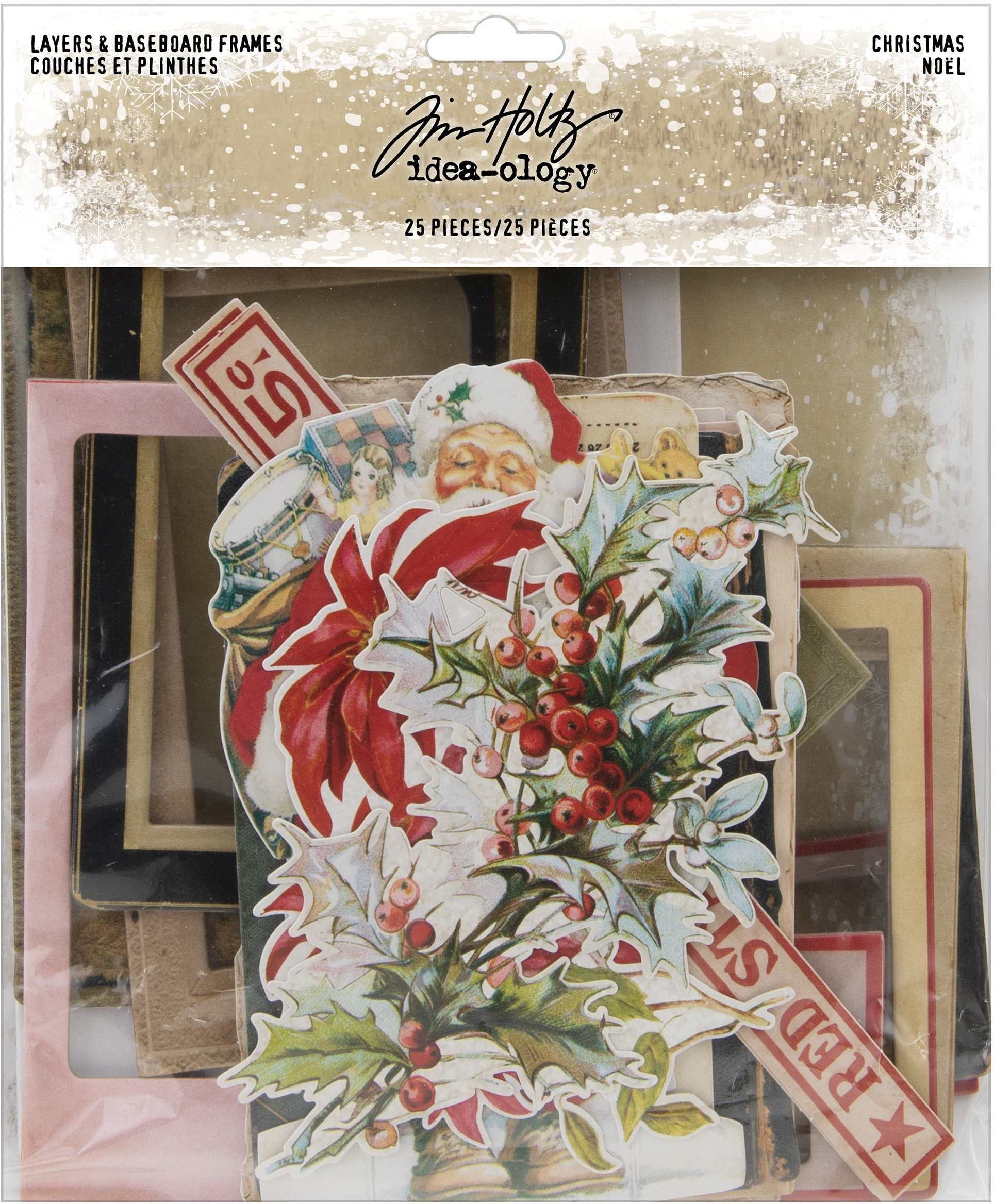 Idea-Ology Layers & Baseboard Frames 25/Pkg-Christmas