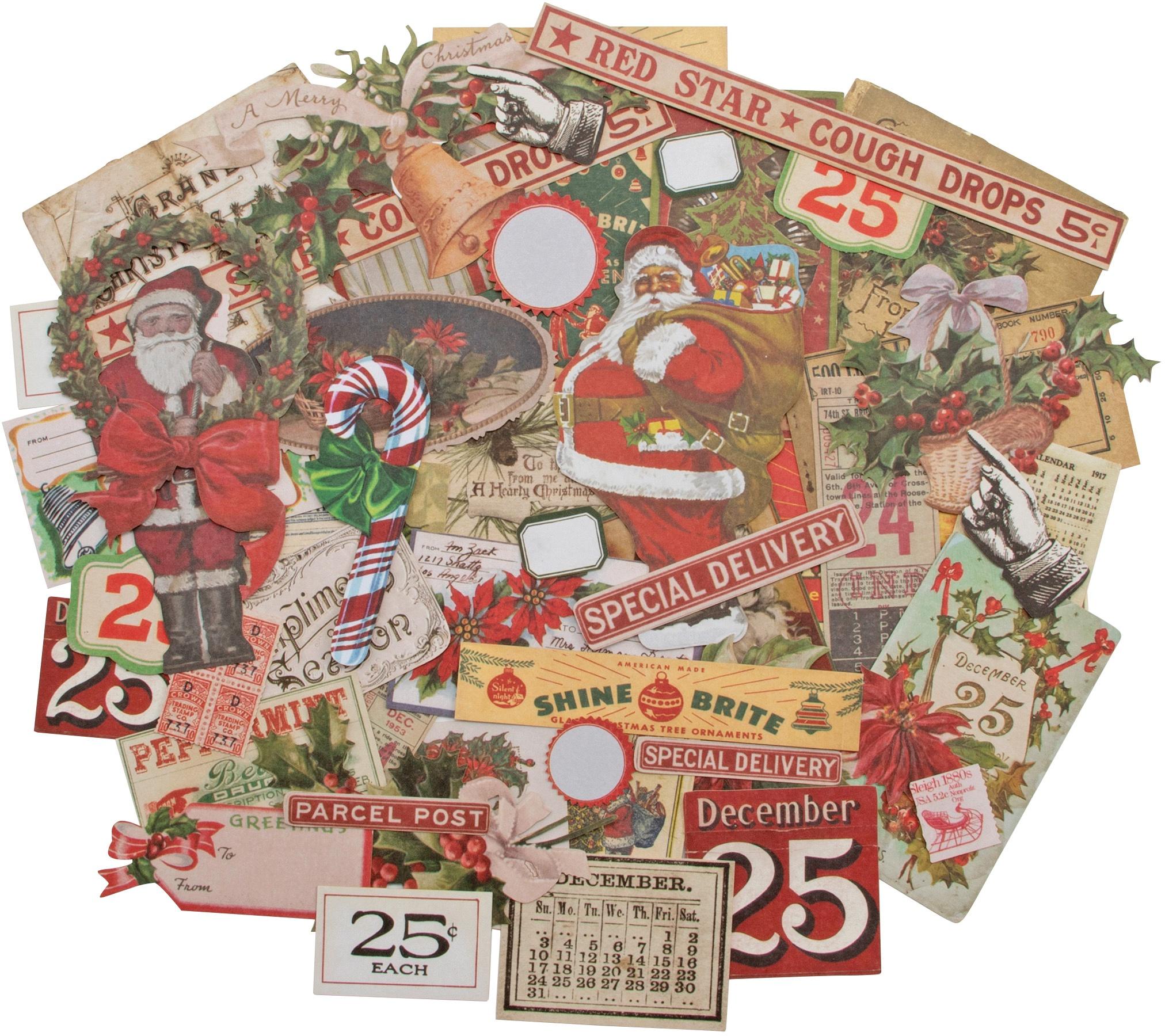 Idea-Ology Ephemera Pack 51/Pkg-Christmas