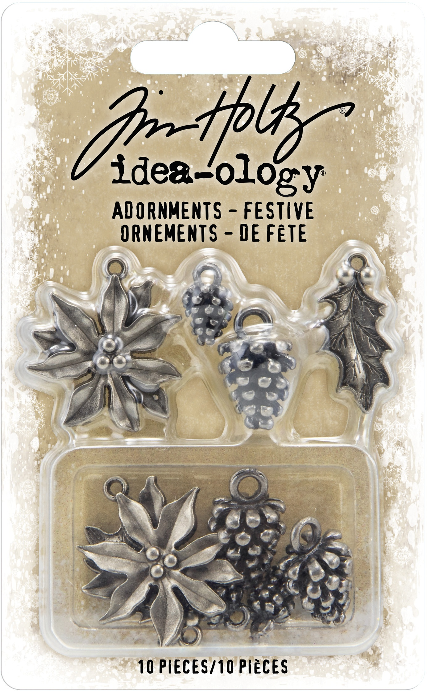 Idea-Ology Metal Adornments 10/Pkg-Antique Nickel Festive
