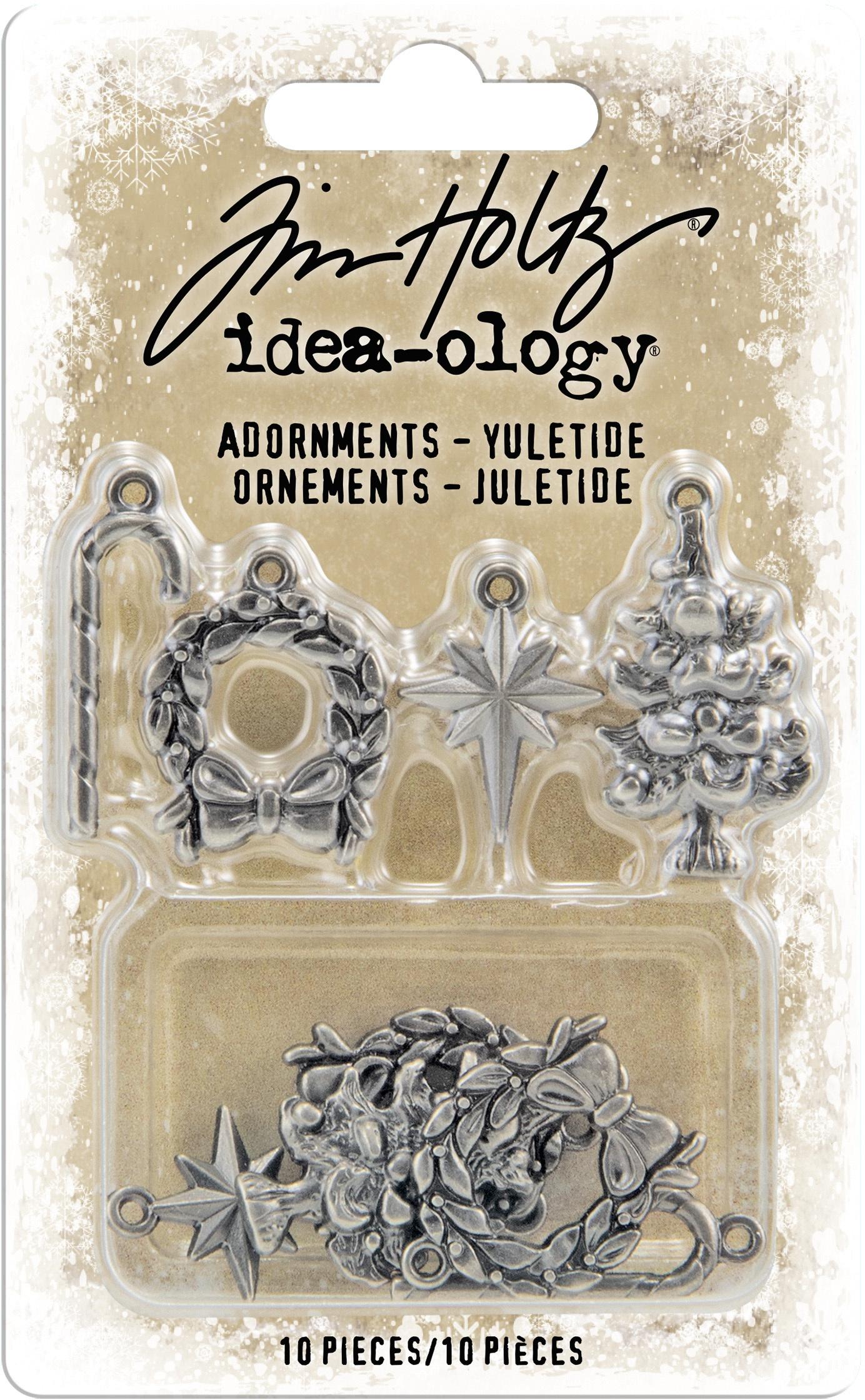 Idea-Ology Metal Adornments 10/Pkg-Antique Nickel Yuletide