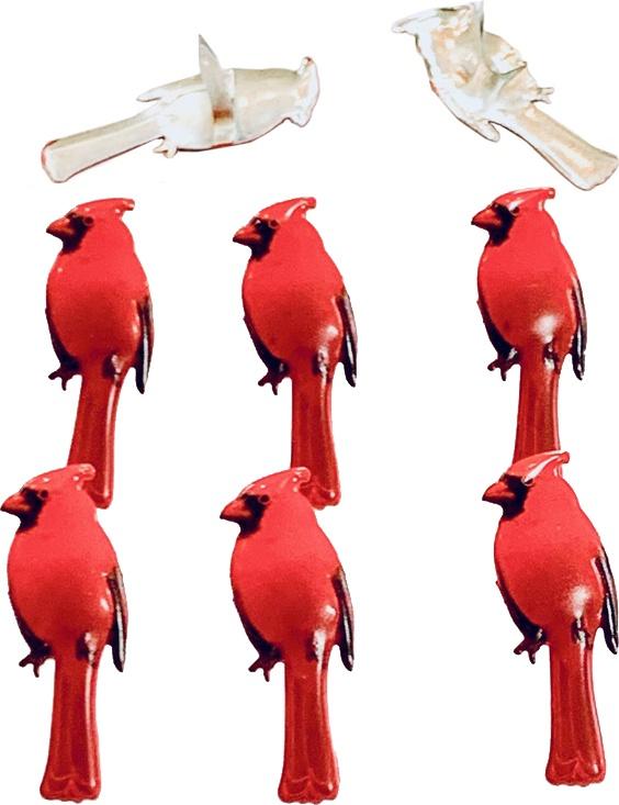 Shape Brads 12/Pkg-Cardinal
