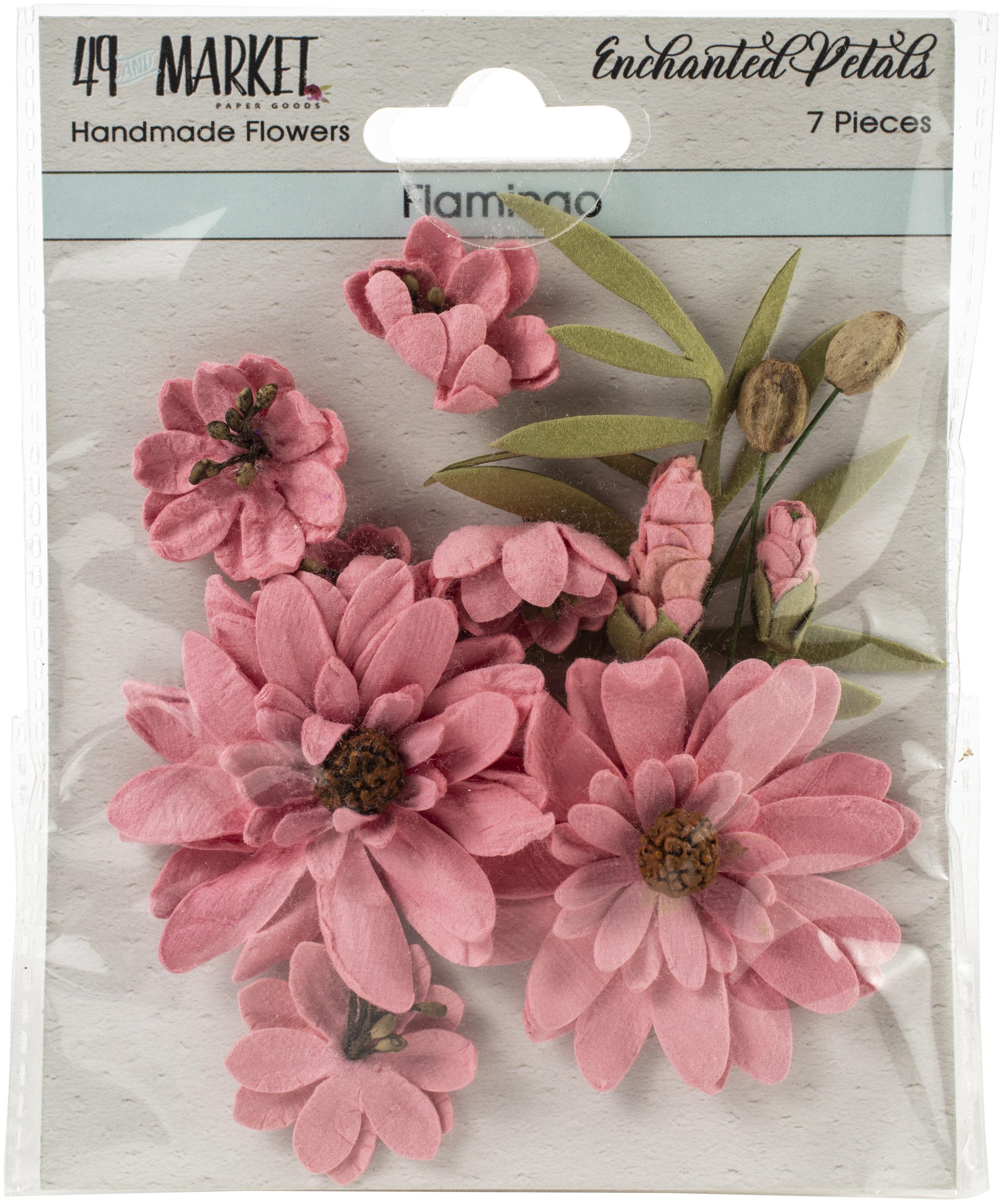49 And Market Enchanted Petals 7/Pkg-Flamingo