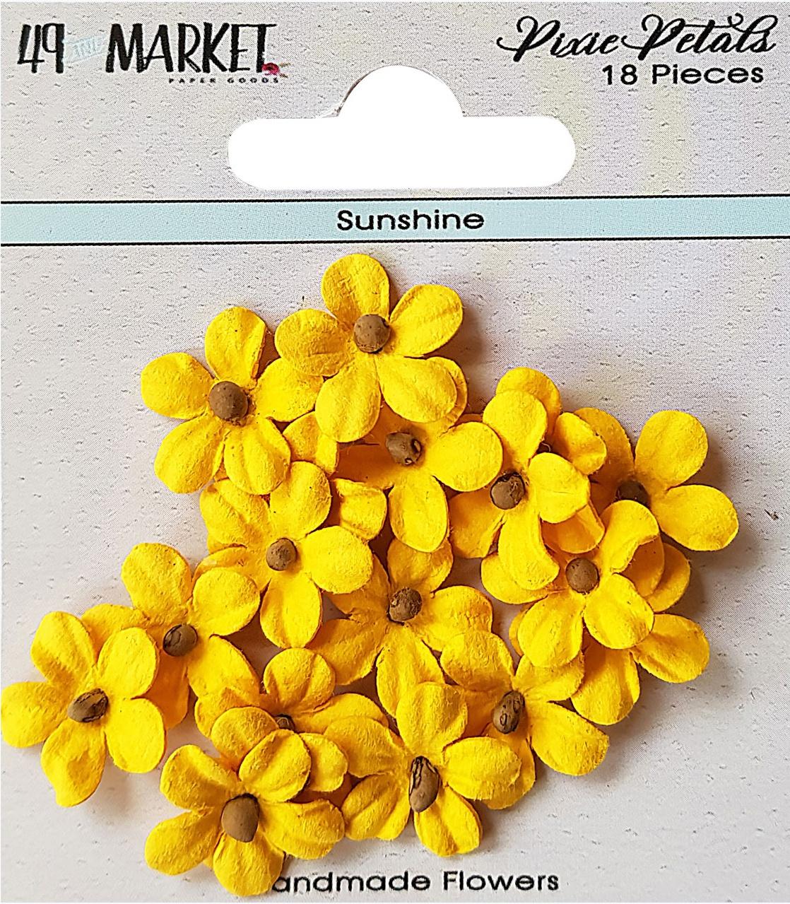 49 And Market Pixie Petals 18/Pkg-Sunshine