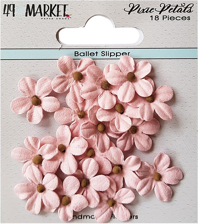 49 And Market Pixie Petals 18/Pkg-Ballet Slipper