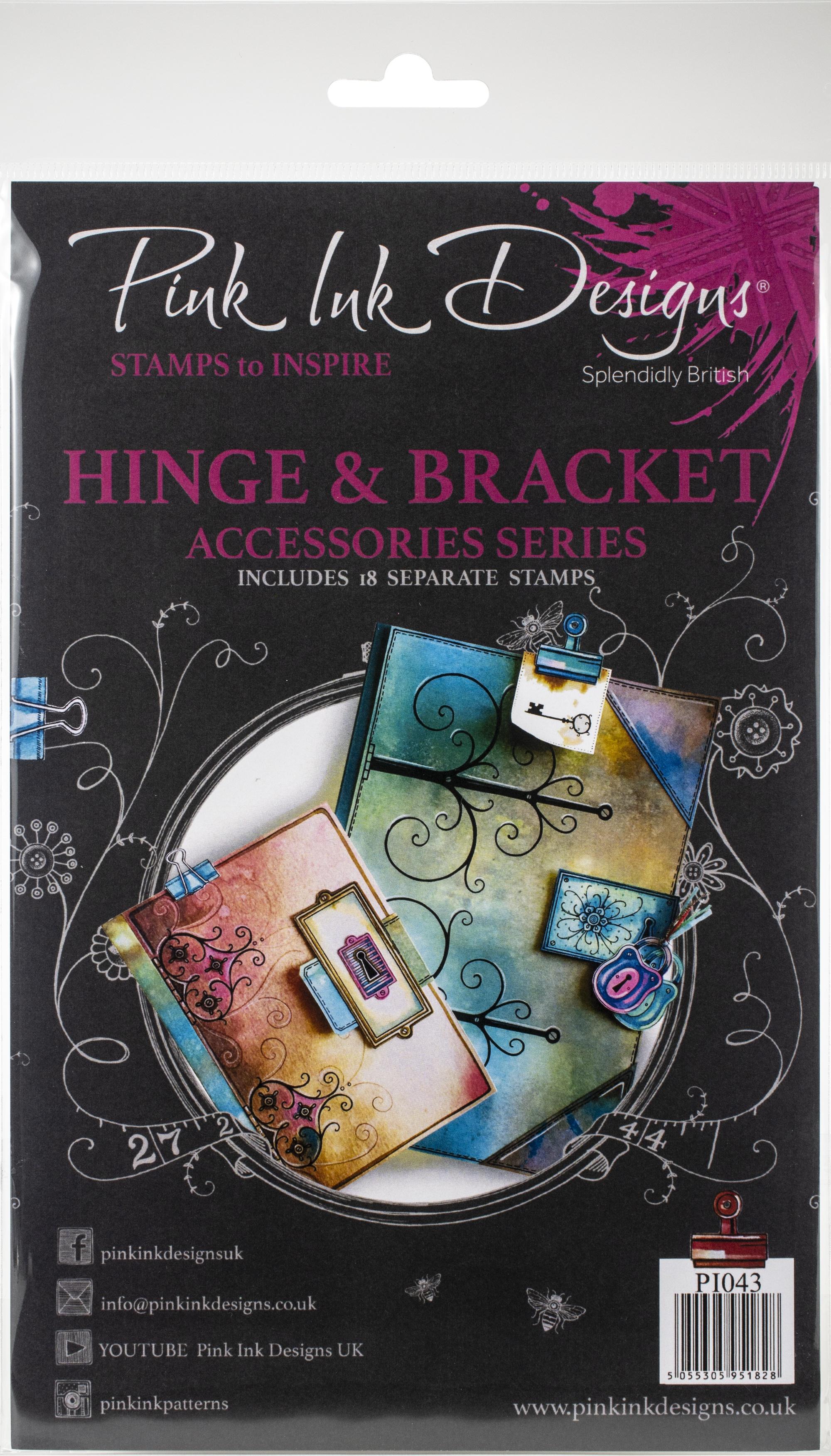 Pink Ink Designs A5 Clear Stamp Set-Hinge & Bracket