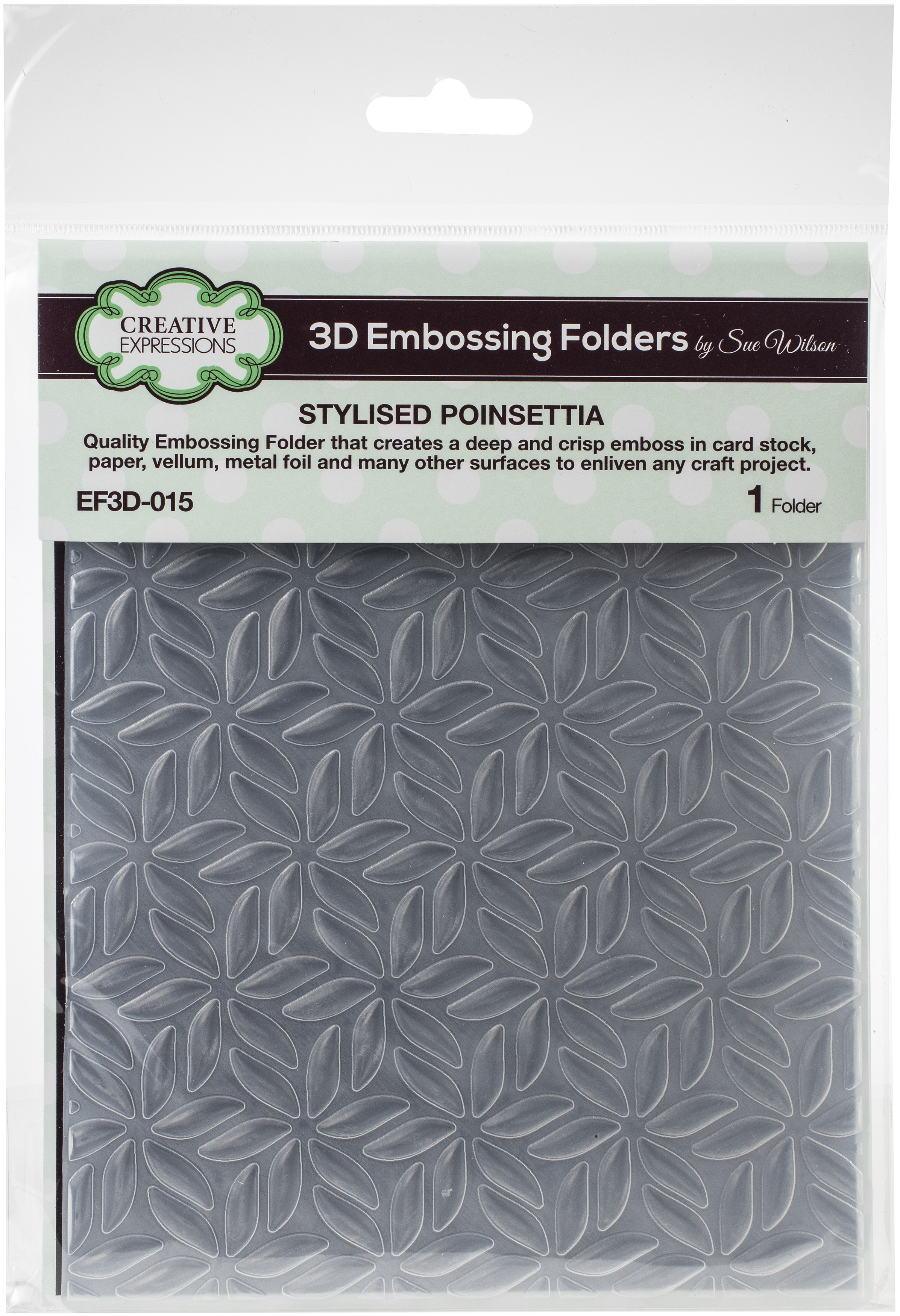 3D Embossing Folder - Stylised Poinsettia (Creative Expressions)