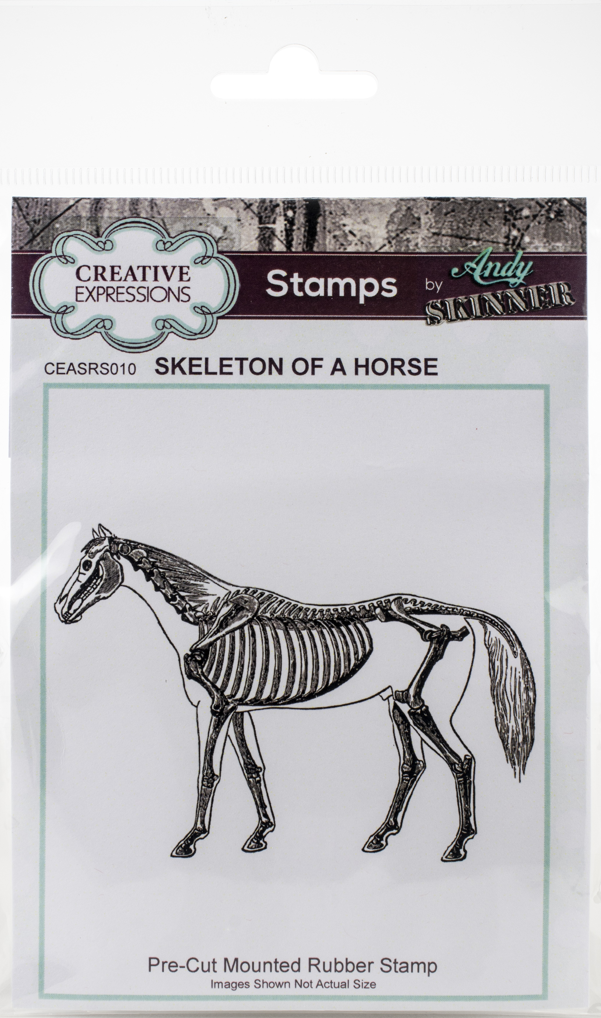 Creative Expressions Rubber Stamp By Andy Skinner-Skeleton Of A Horse