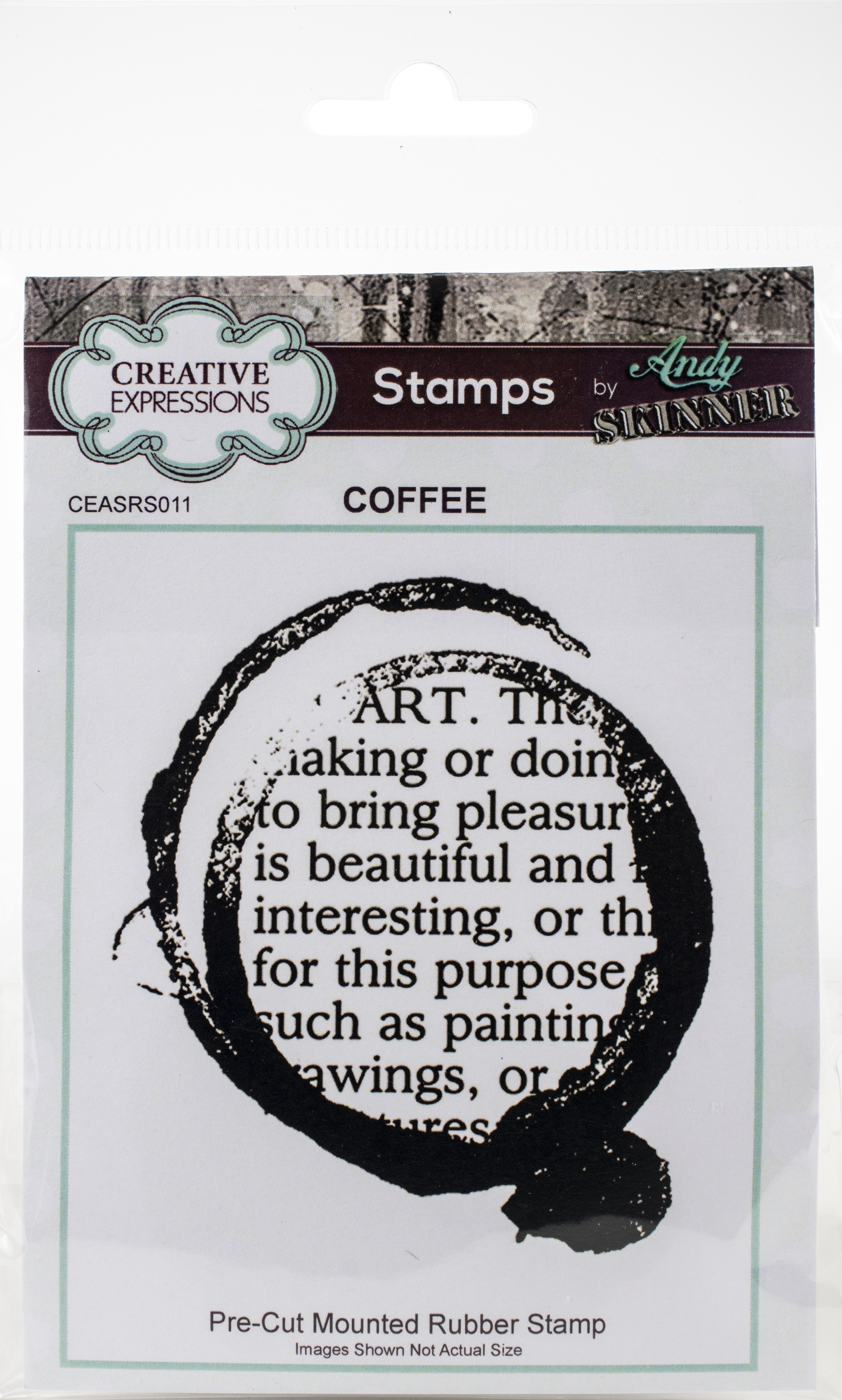 Creative Expressions Rubber Stamp By Andy Skinner-Coffee Art