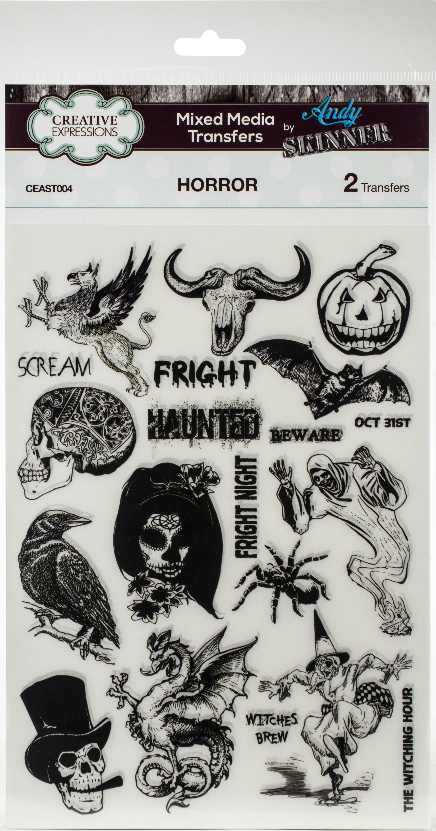 Creative Expressions Mixed Media Transfers By Andy Skinner-Horror