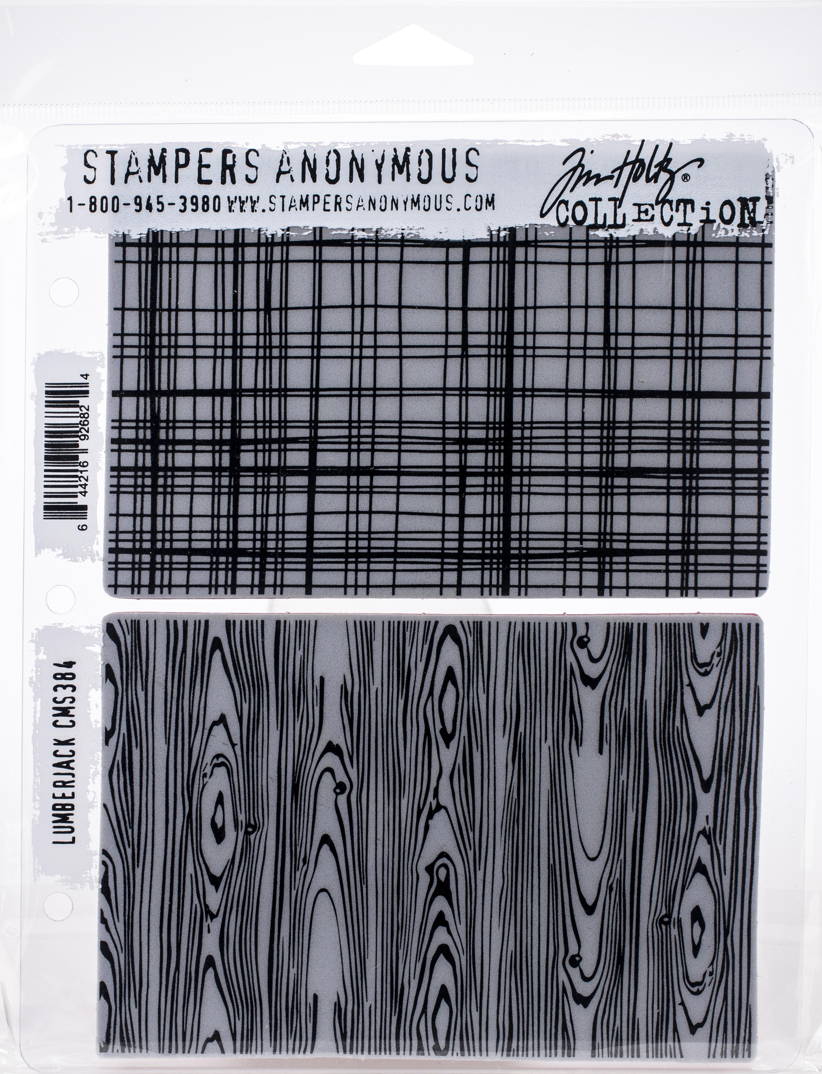 Tim Holtz Cling Stamps 7X8.5-Lumberjack