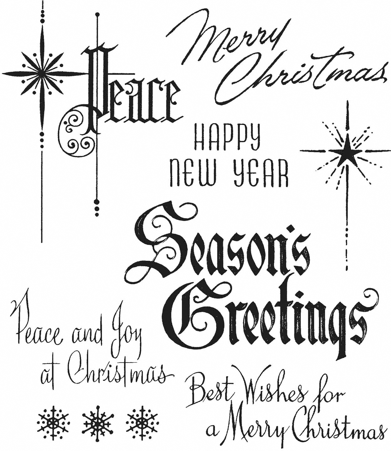 Tim Holtz Cling Stamps 7X8.5-Christmastime #2