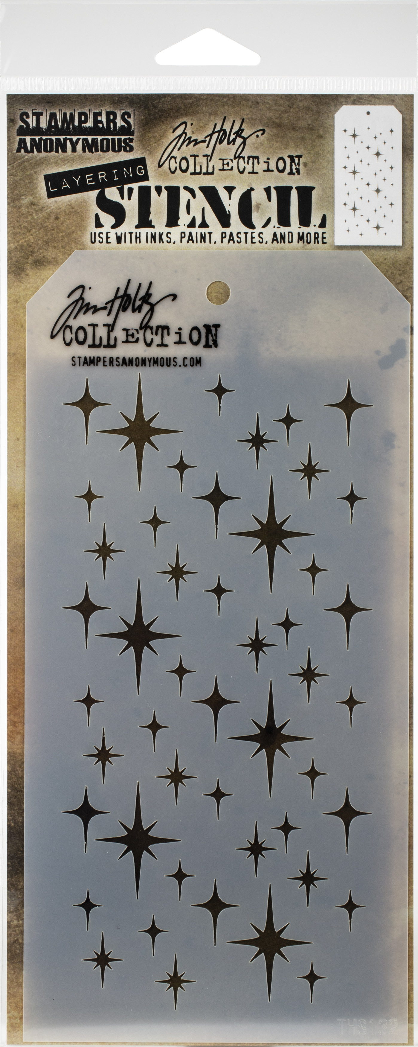 Tim Holtz Layered Stencil 4.125X8.5-Sparkle