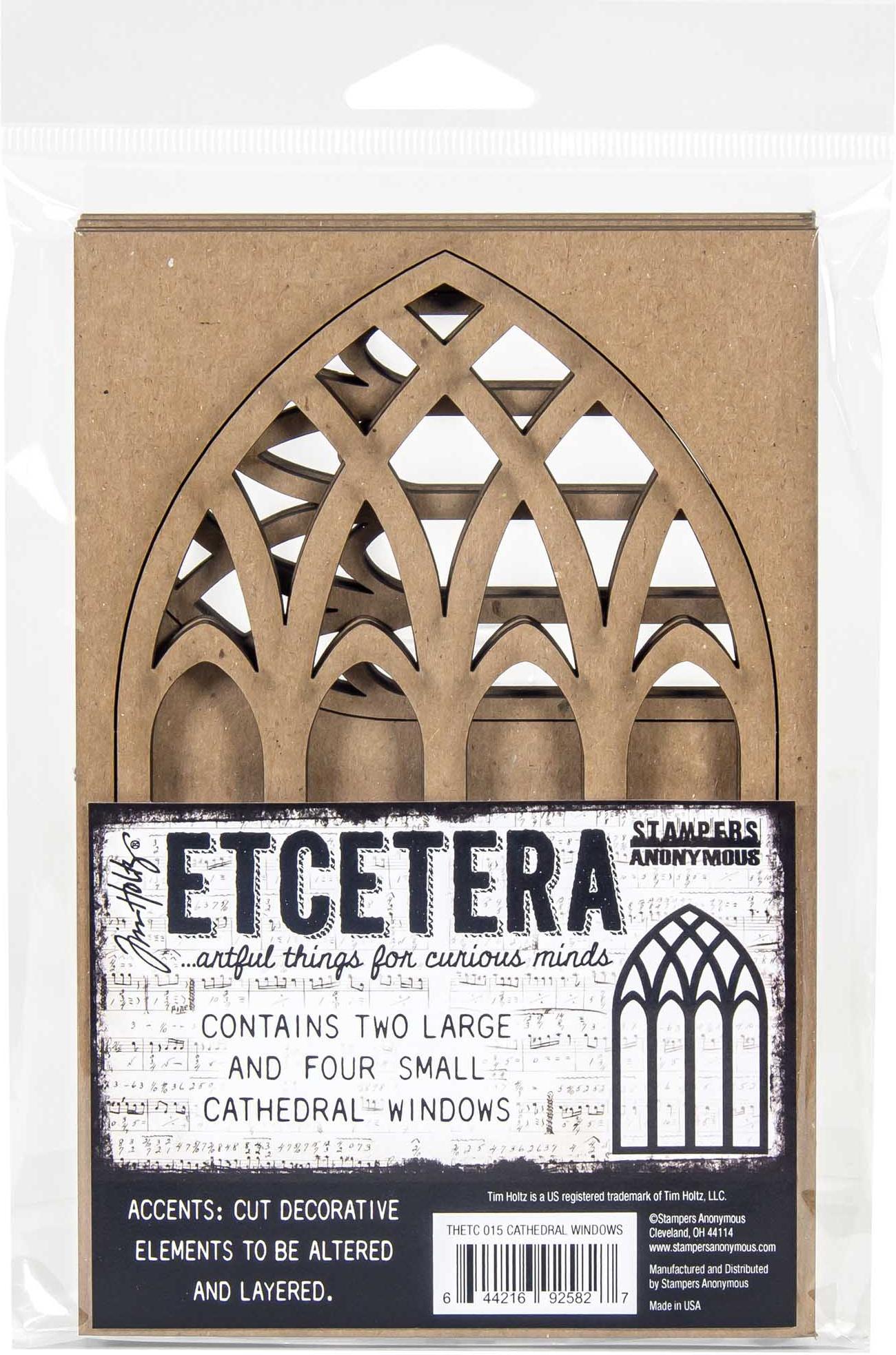 Tim Holtz Ecetera Cathedral Windows-