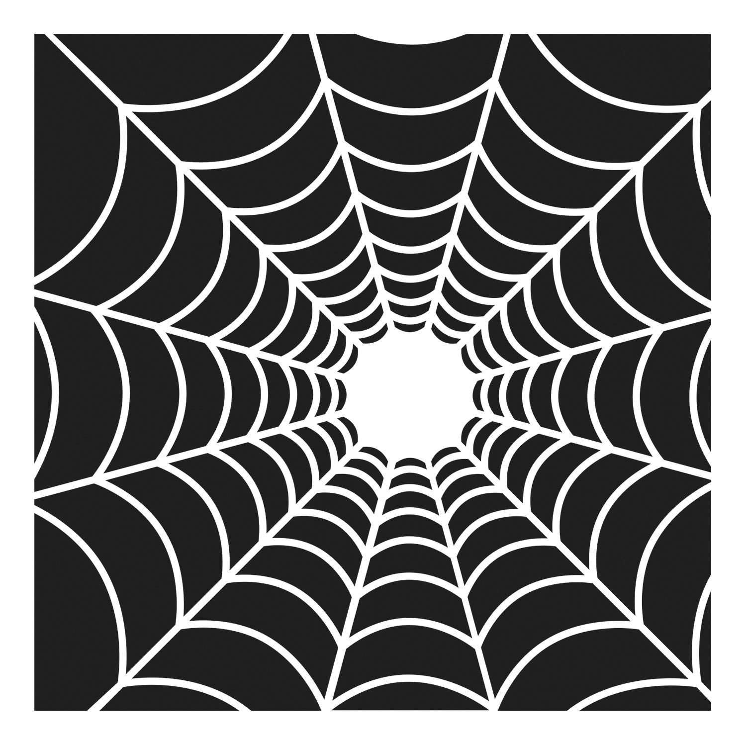 Crafter's Workshop Template 6X6-Spider's Web