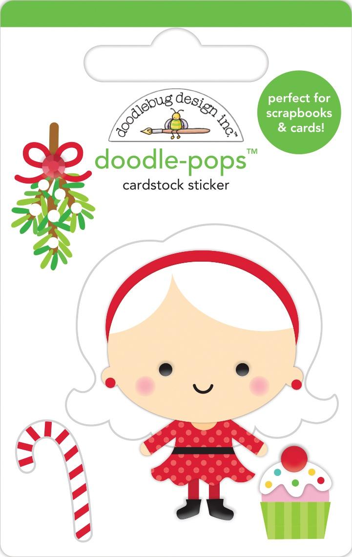 Doodlebug Doodle-Pops 3D Stickers-Mrs