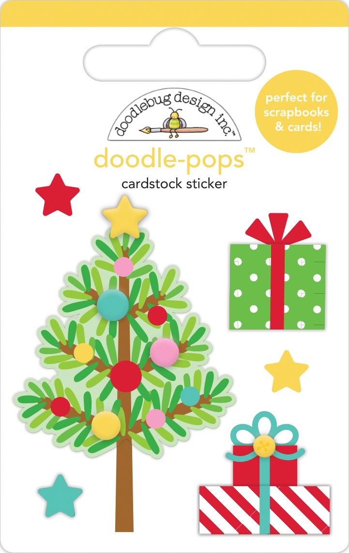 Doodlebug Doodle-Pops 3D Stickers-Trim The Tree, Christmas Magic
