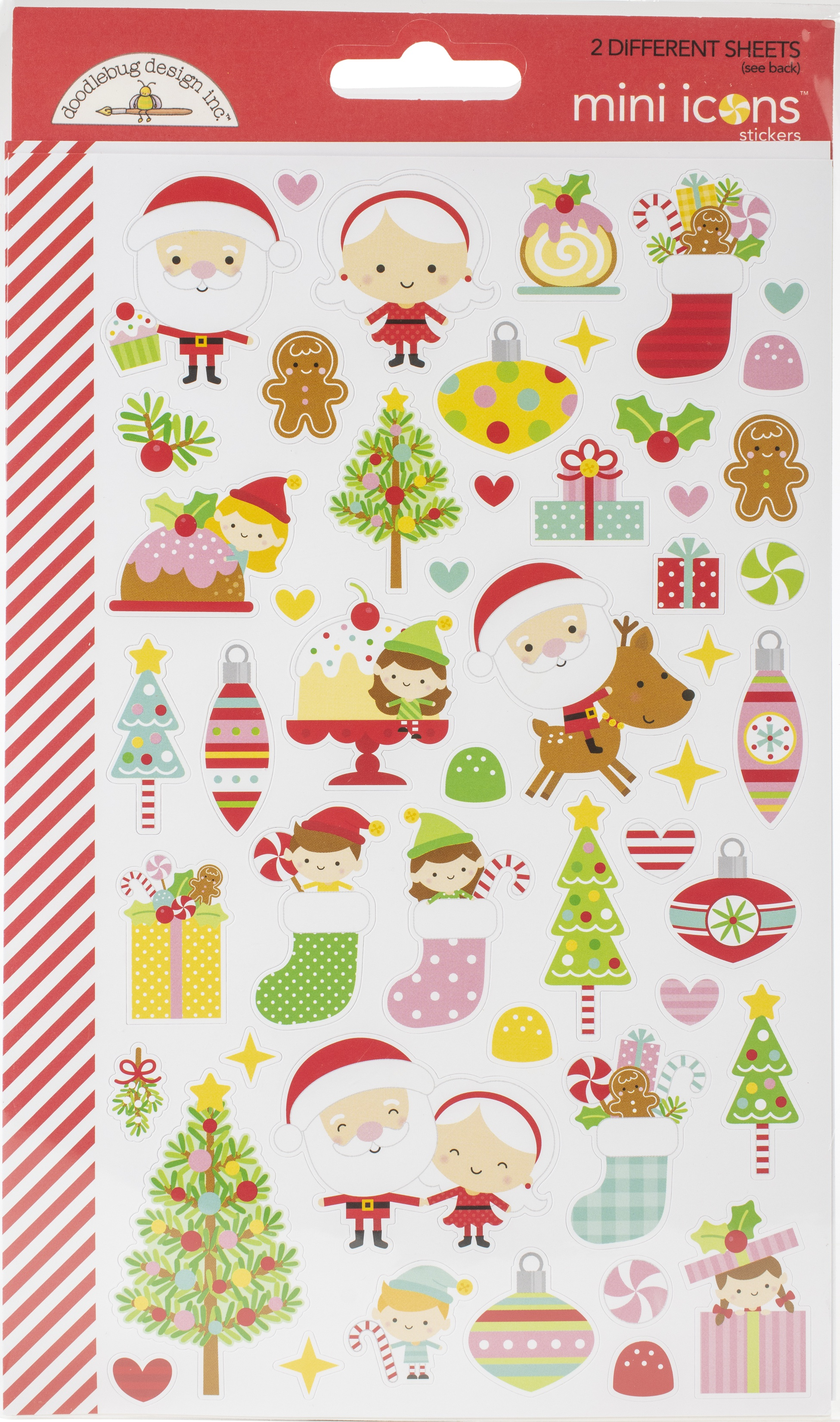 Dooblebug Mini Cardstock Stickers 2/Pkg-Christmas Magic Icons