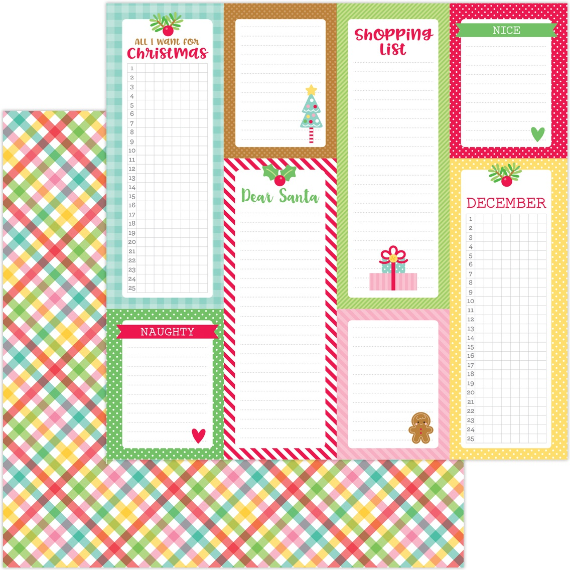 Christmas Magic Double-Sided Cardstock 12X12-Plaidsome Tidings