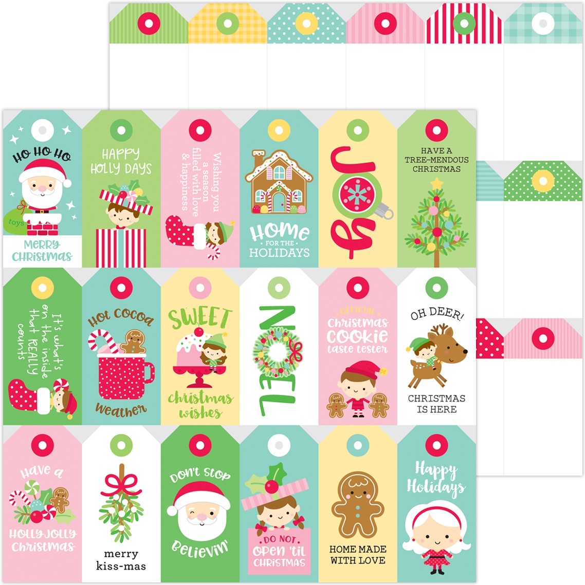 Christmas Magic Double-Sided Cardstock 12X12-Christmas Tags