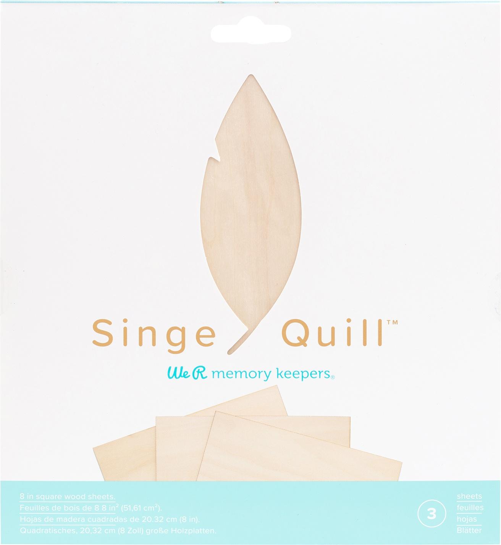 We R Memory Keepers Singe Quill Veneer Sheets 8X8 3/Pkg-