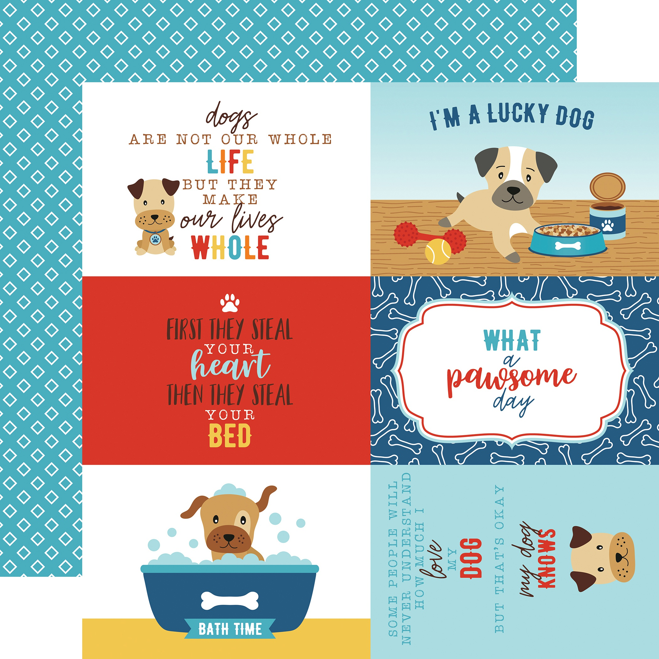 I Love My Dog Double-Sided Cardstock 12X12