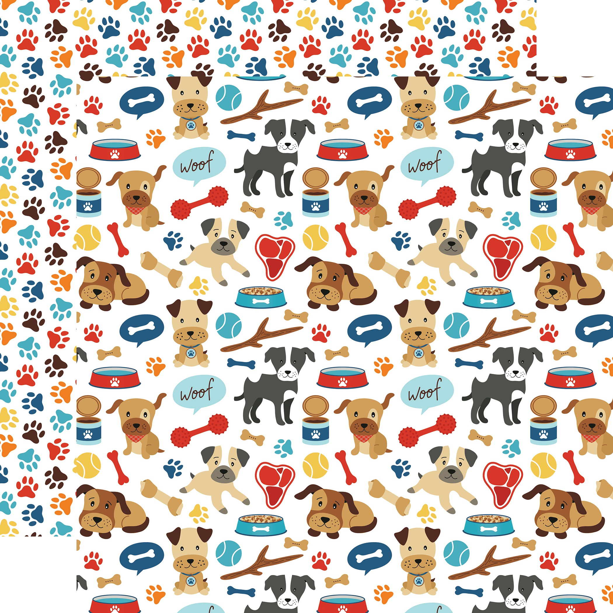 I Love My Dog Double-Sided Cardstock 12X12-Woof Woof