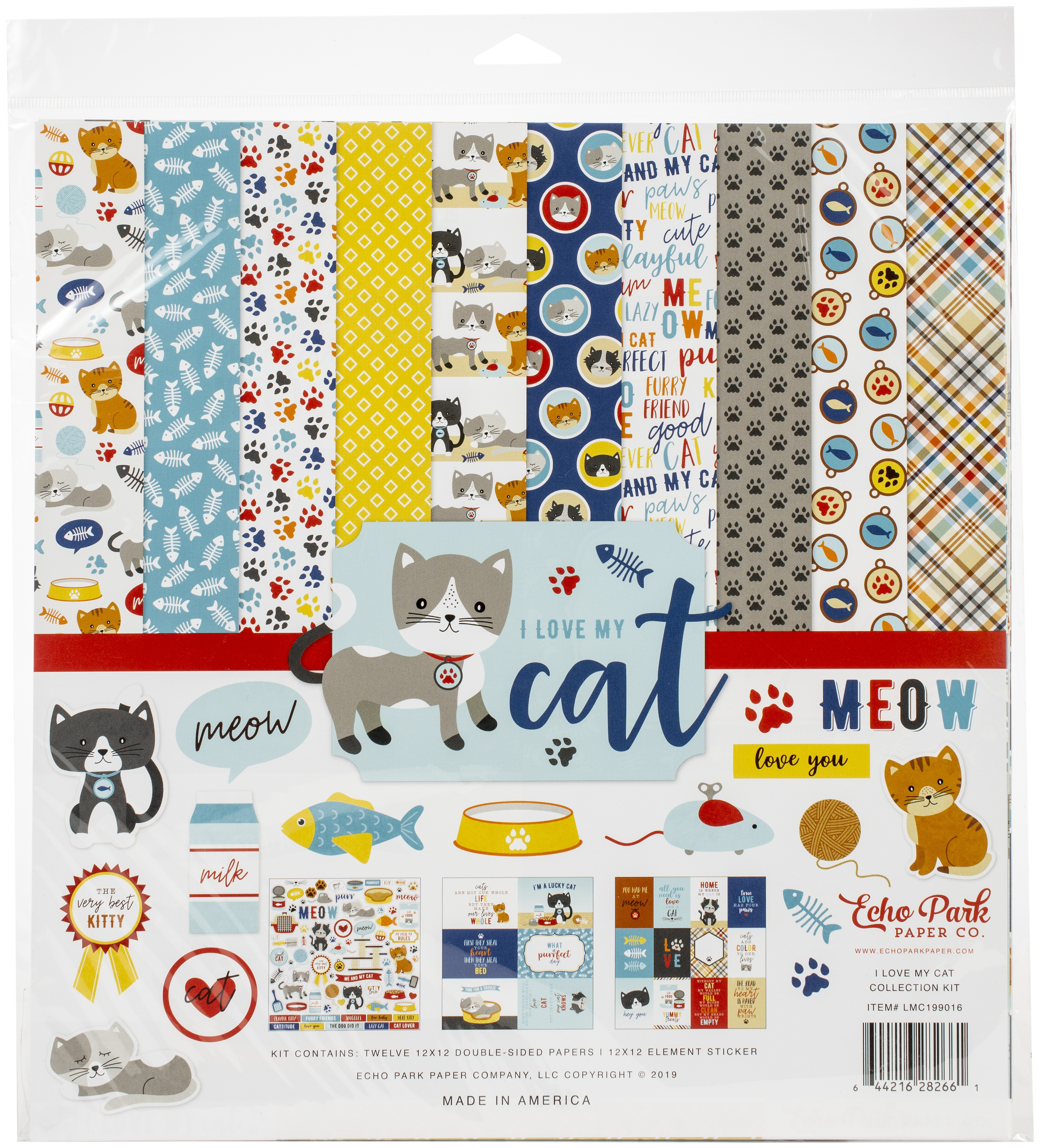 Echo Park Collection Kit 12X12-I Love My Cat