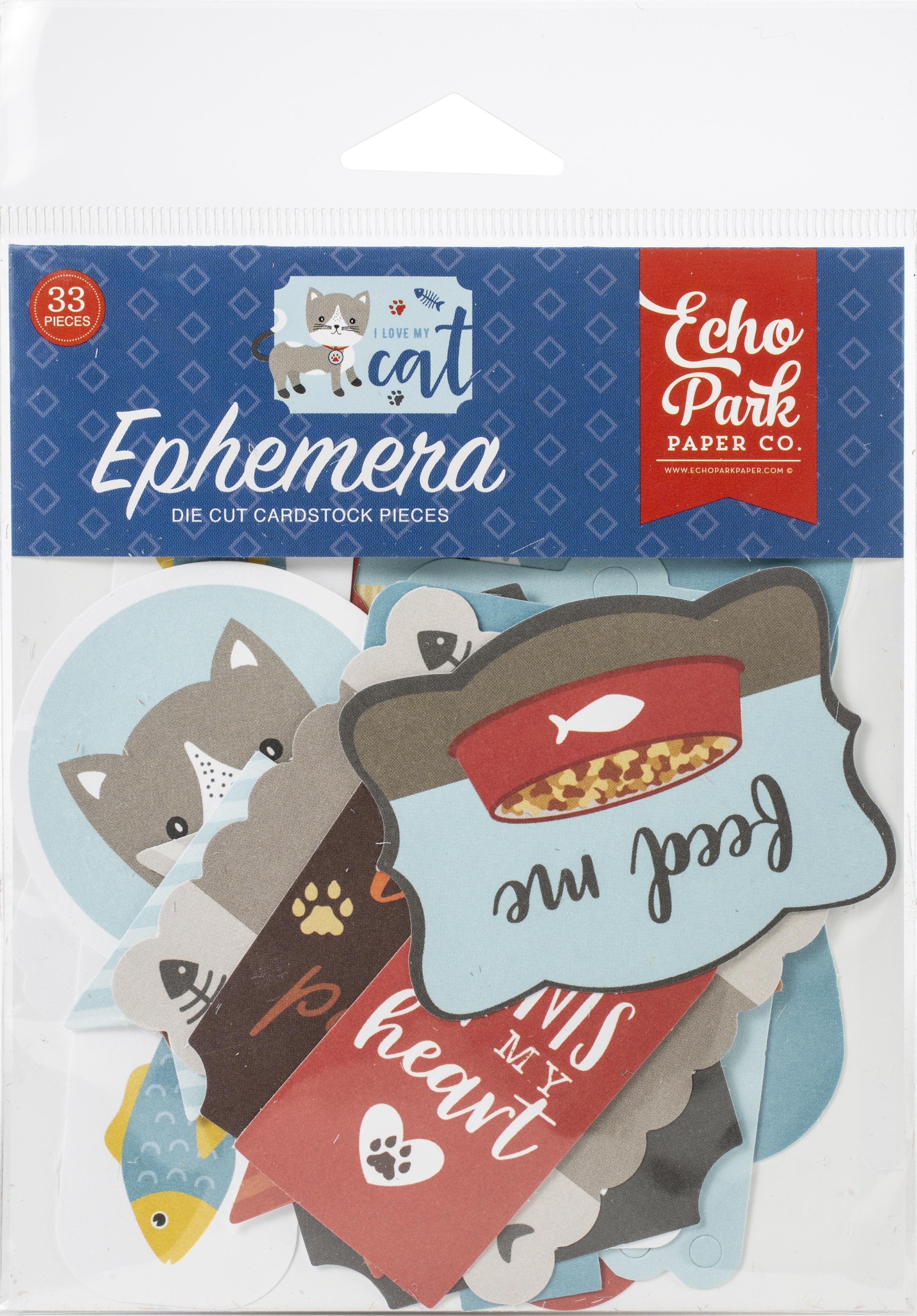 33/Pkg-Icons, I Love My Cat Ephemera