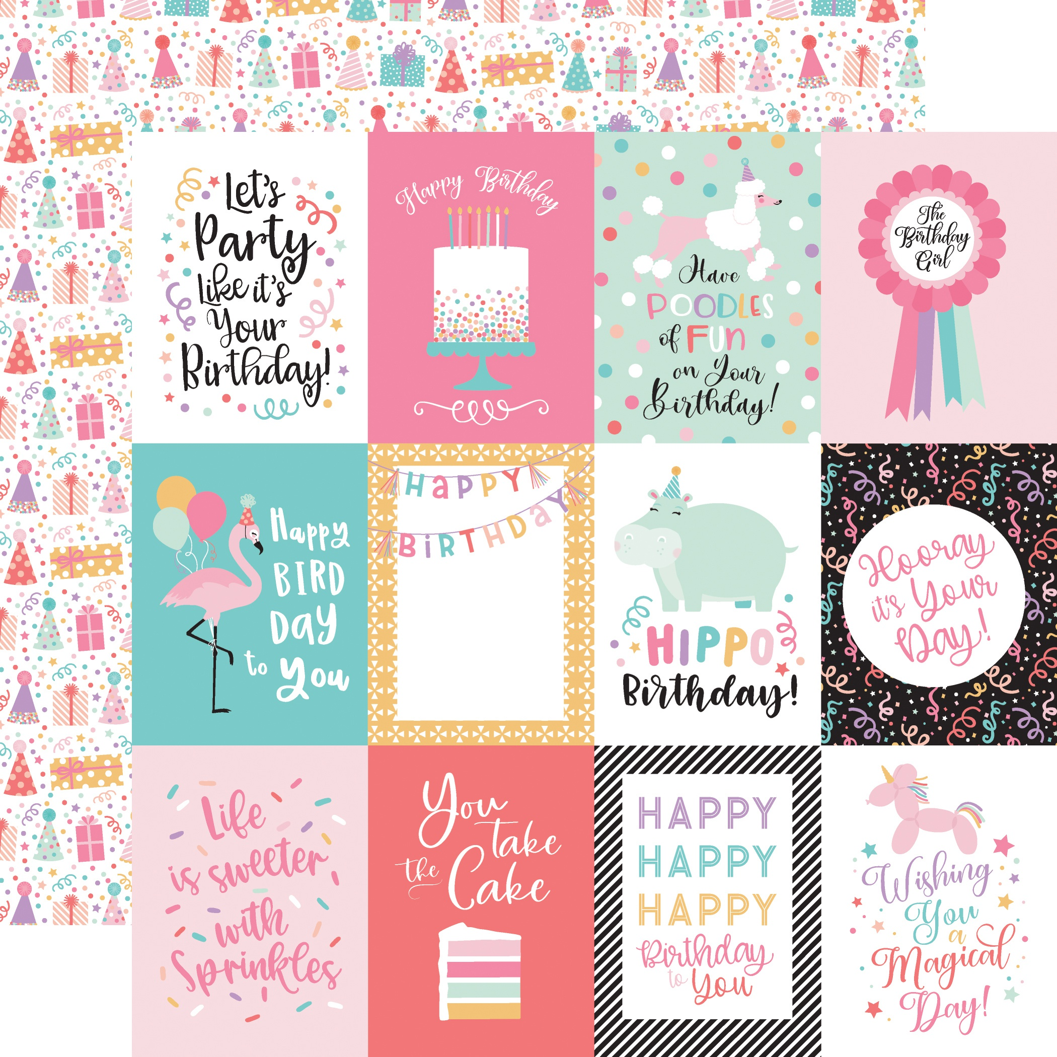 EP It's Your Birthday Girl 3x4 Journaling Cards