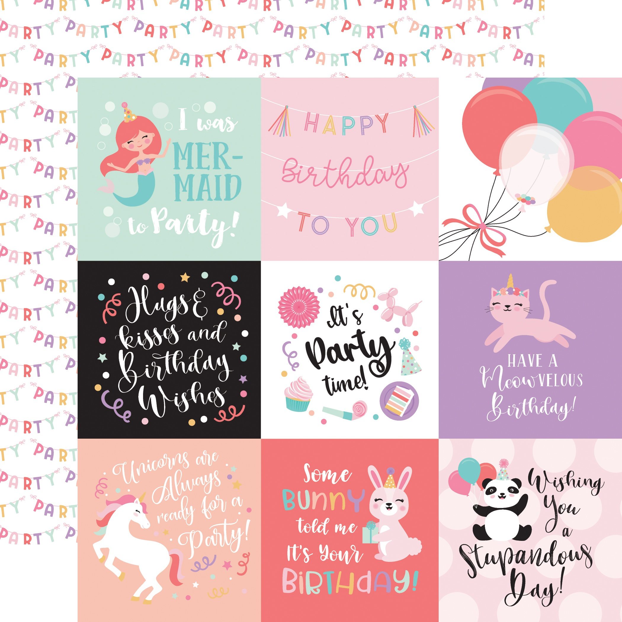 EP It's Your Birthday Girl 4x6 Journaling Cards