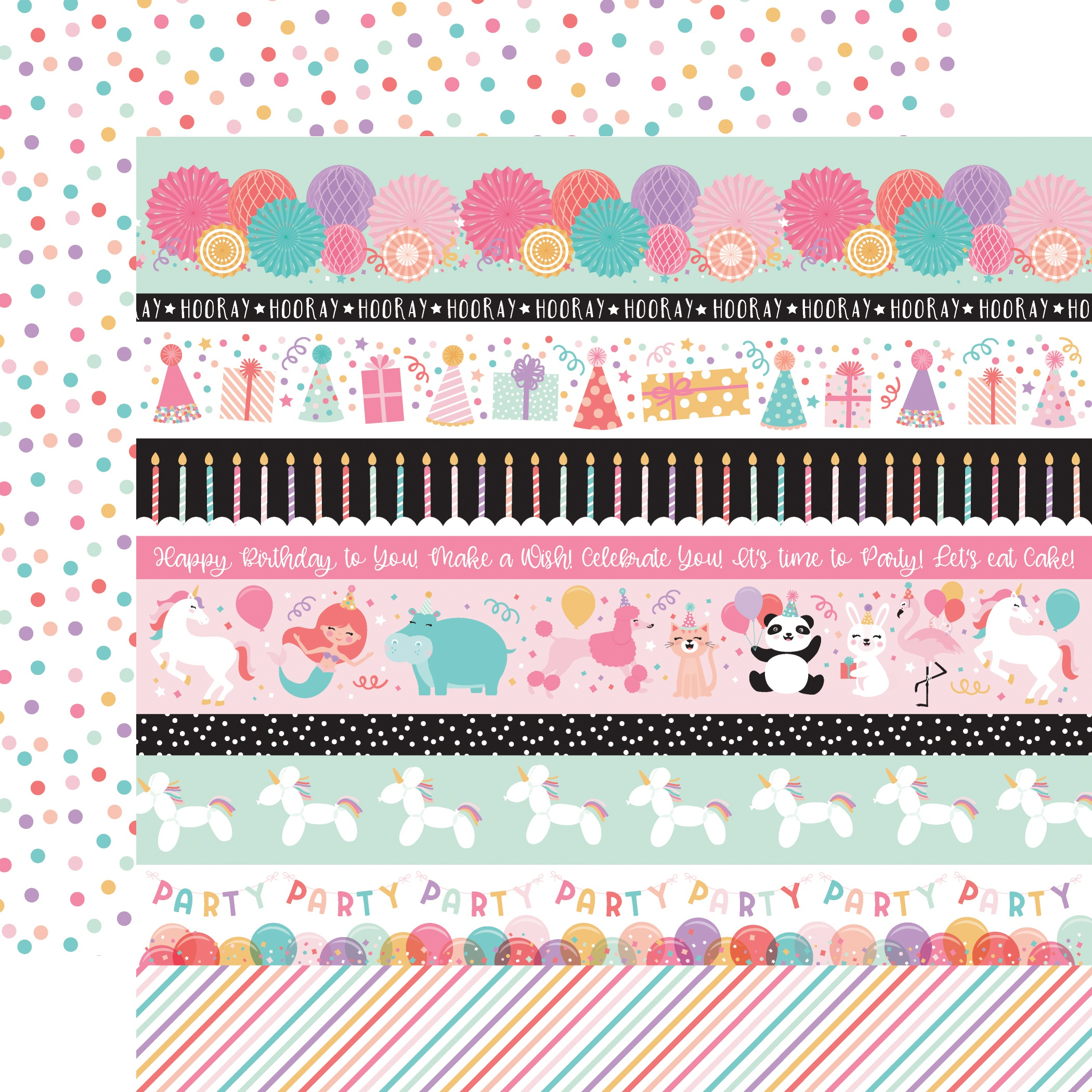 It's Your Birthday Girl- Border Stripes