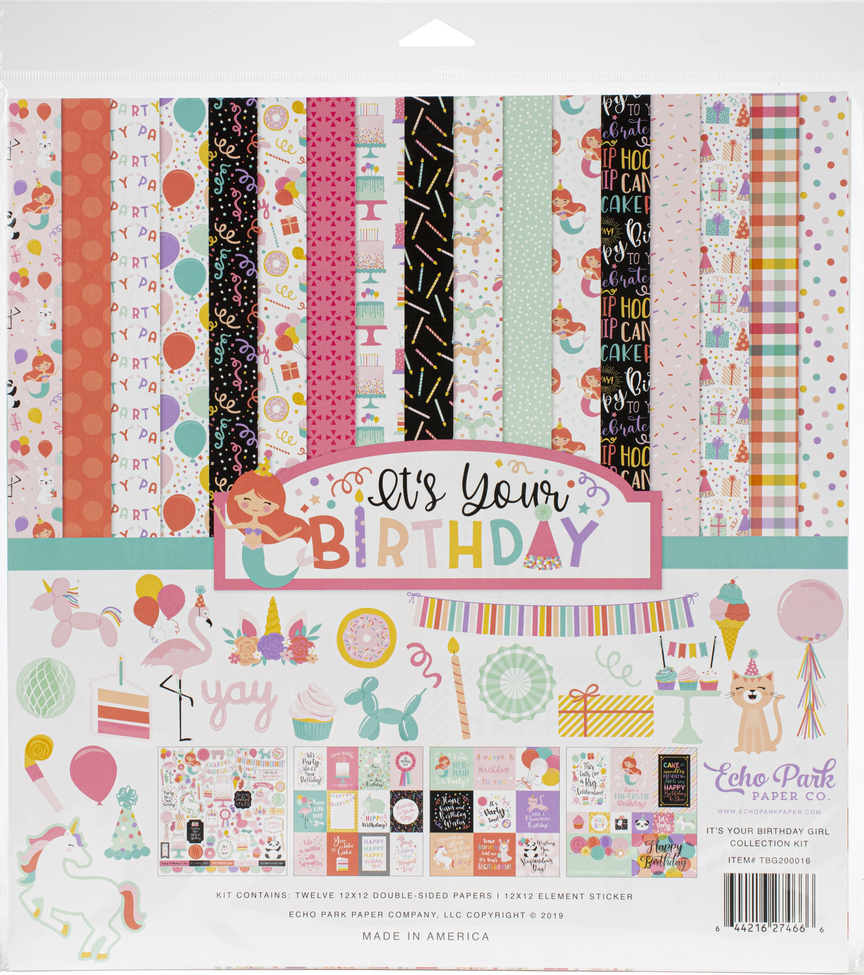 Echo Park Collection Kit 12X12-It's Your Birthday Girl
