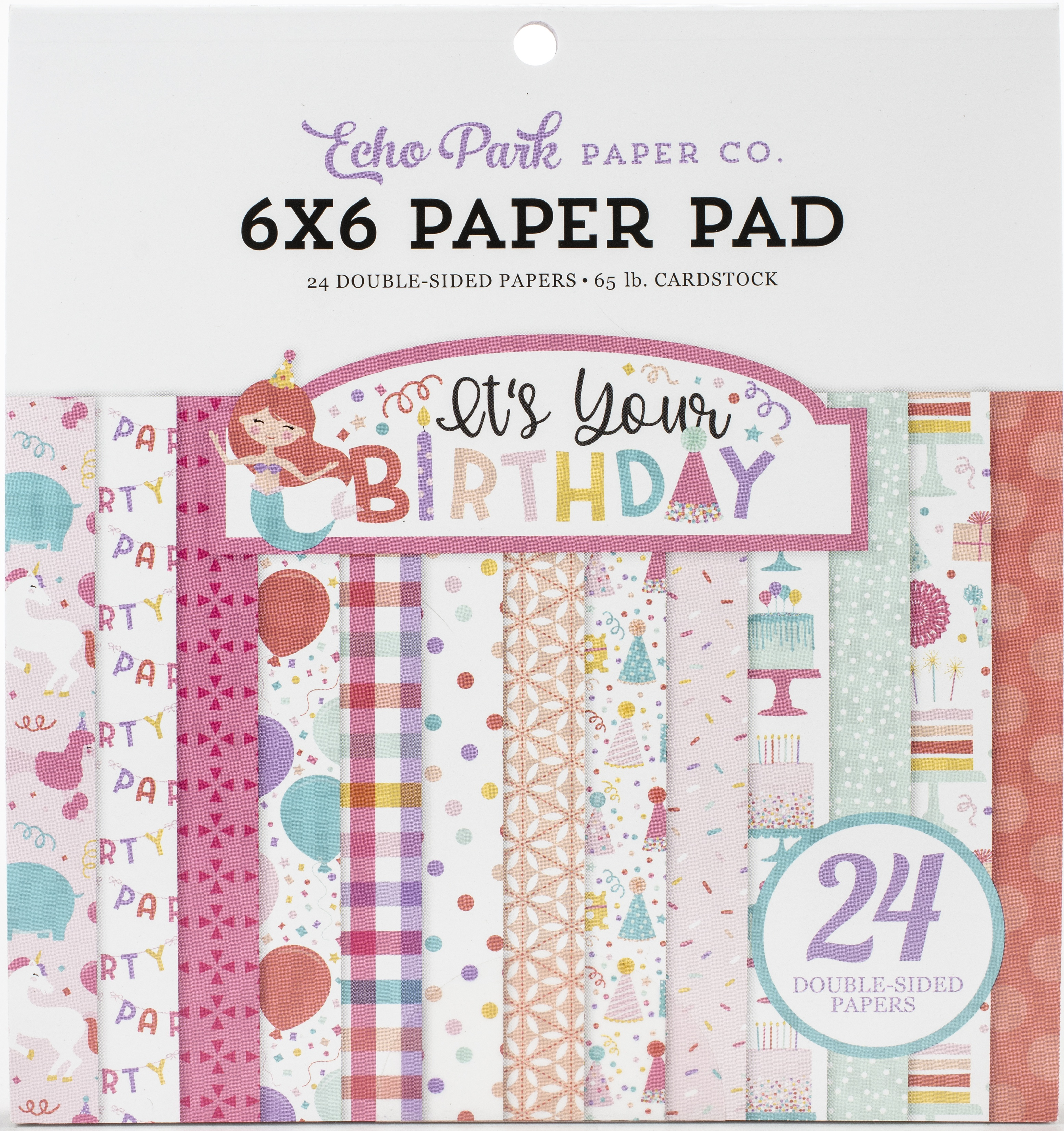 Echo Park Double-Sided Paper Pad 6X6 24/Pkg-It's Your Birthday Girl, 12 Design...