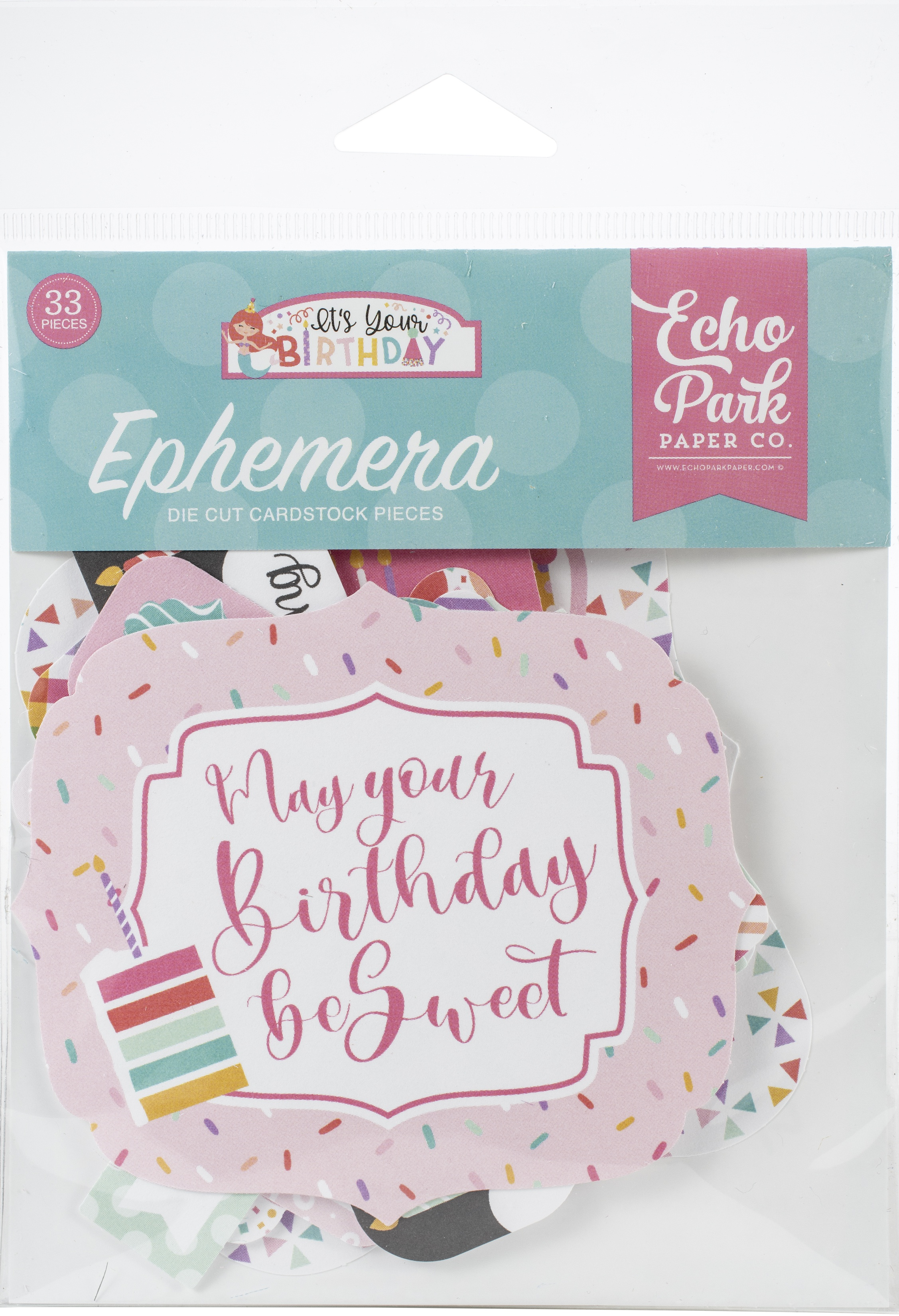 Echo Park Cardstock Ephemera 33/Pkg-Frames & Tags, It's Your Birthday Girl