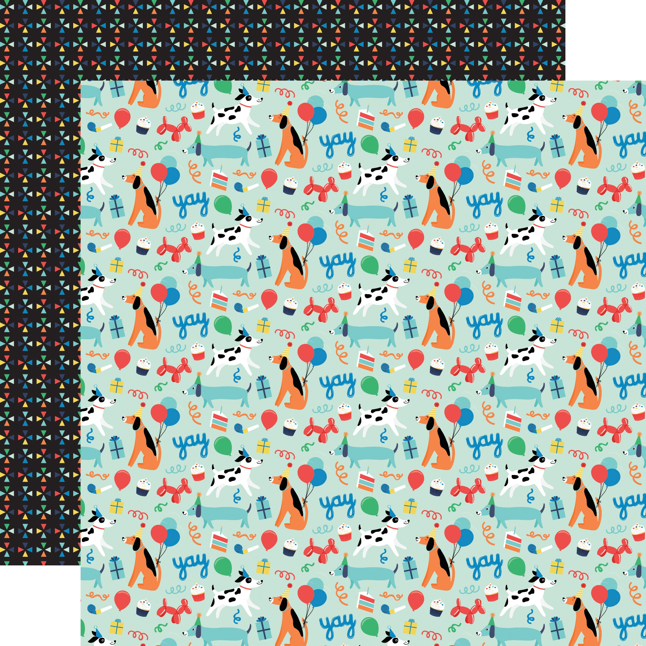 It's Your Birthday Boy Double-Sided Cardstock 12X12-Dog Party