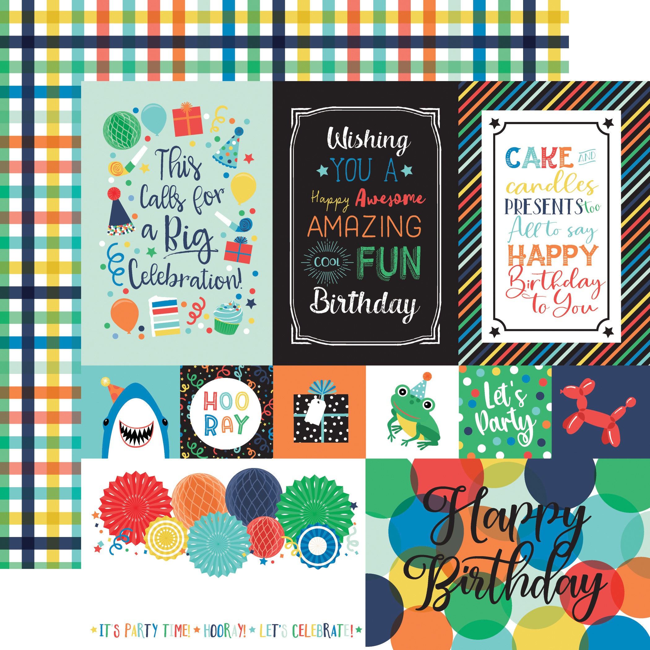 It's Your Birthday Boy Double-Sided Cardstock 12X12-Multi Journaling Cards