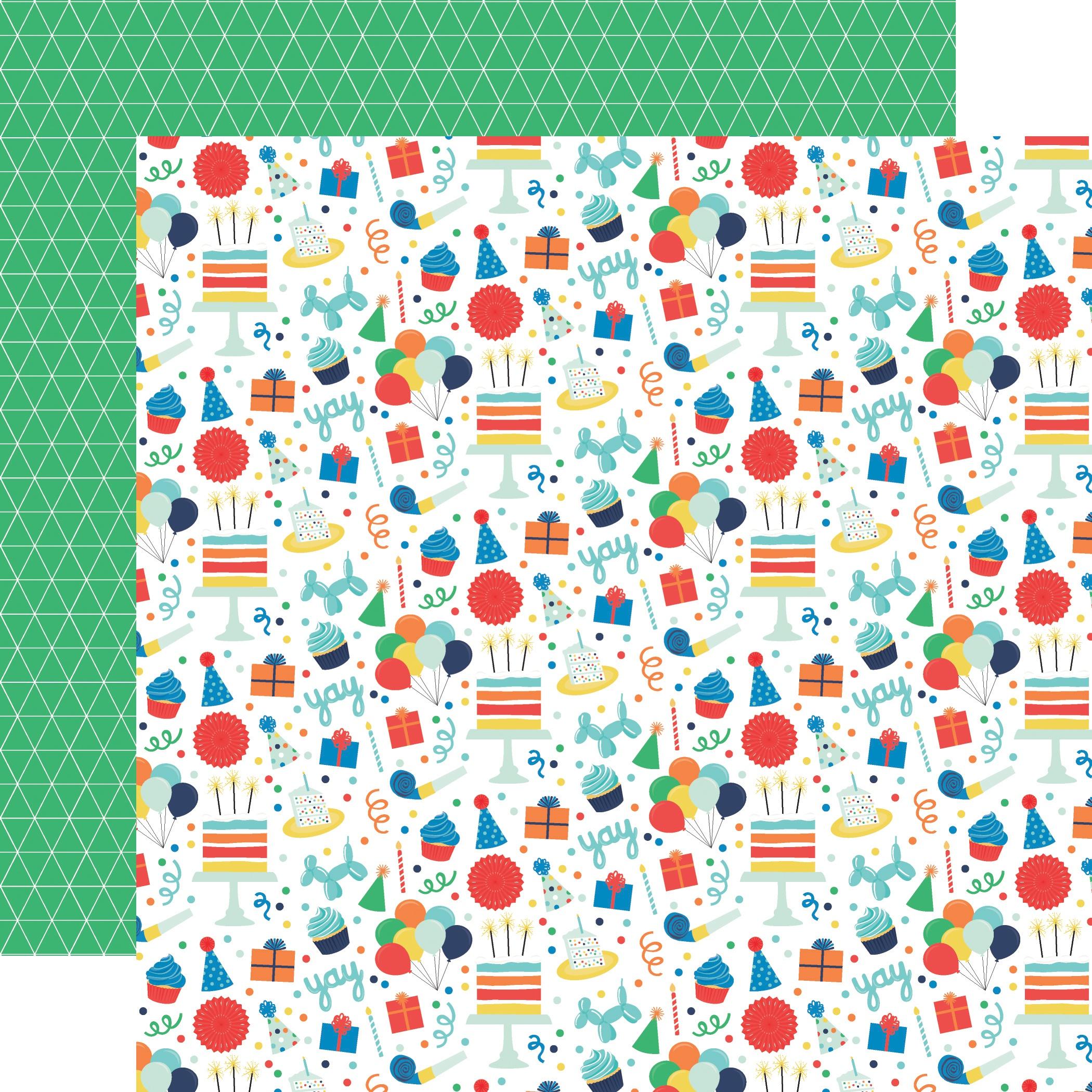 It's Your Birthday Boy Double-Sided Cardstock 12X12-Birthday Boy Fun
