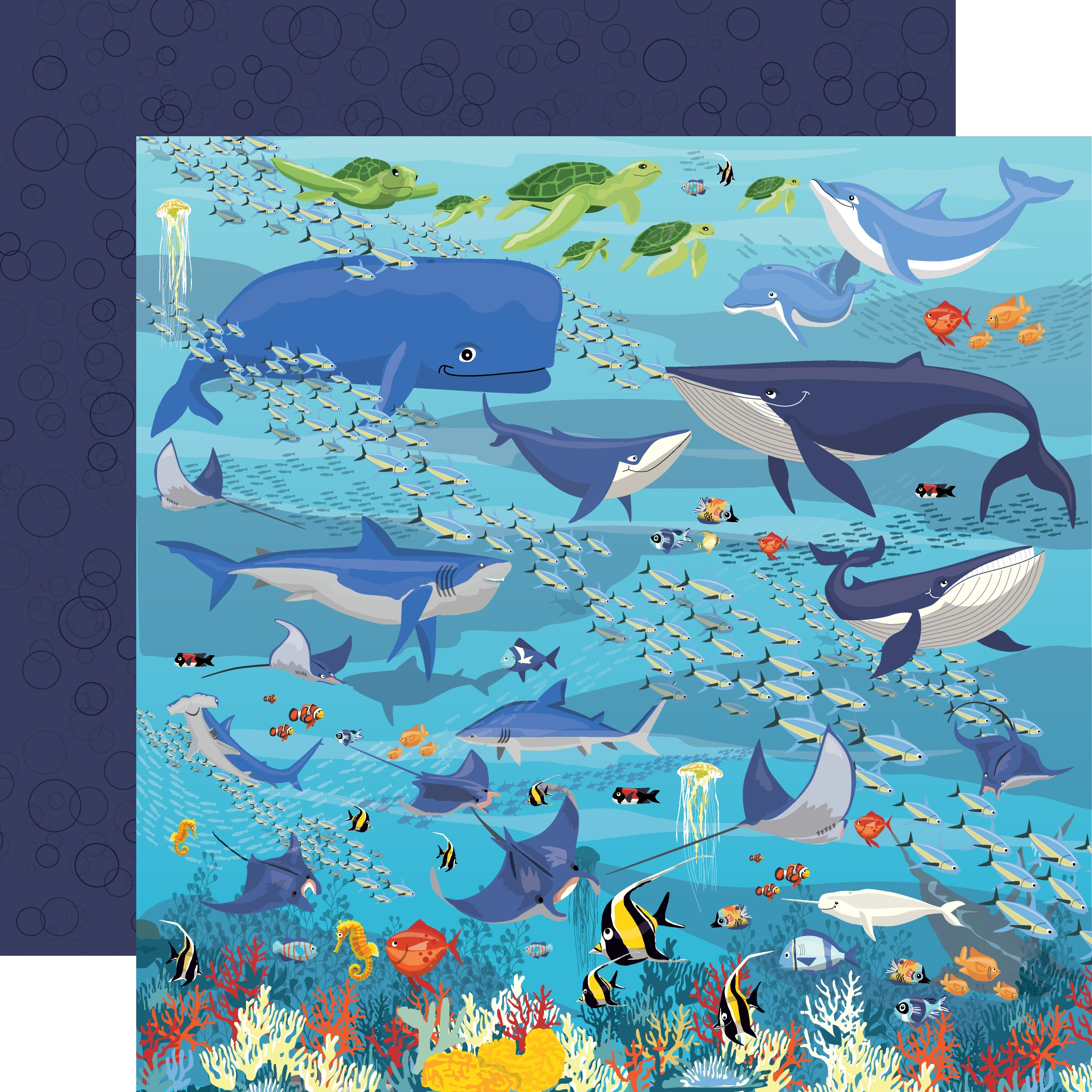 Fish Are Friends Double-Sided Cardstock 12X12-Underwater Scene