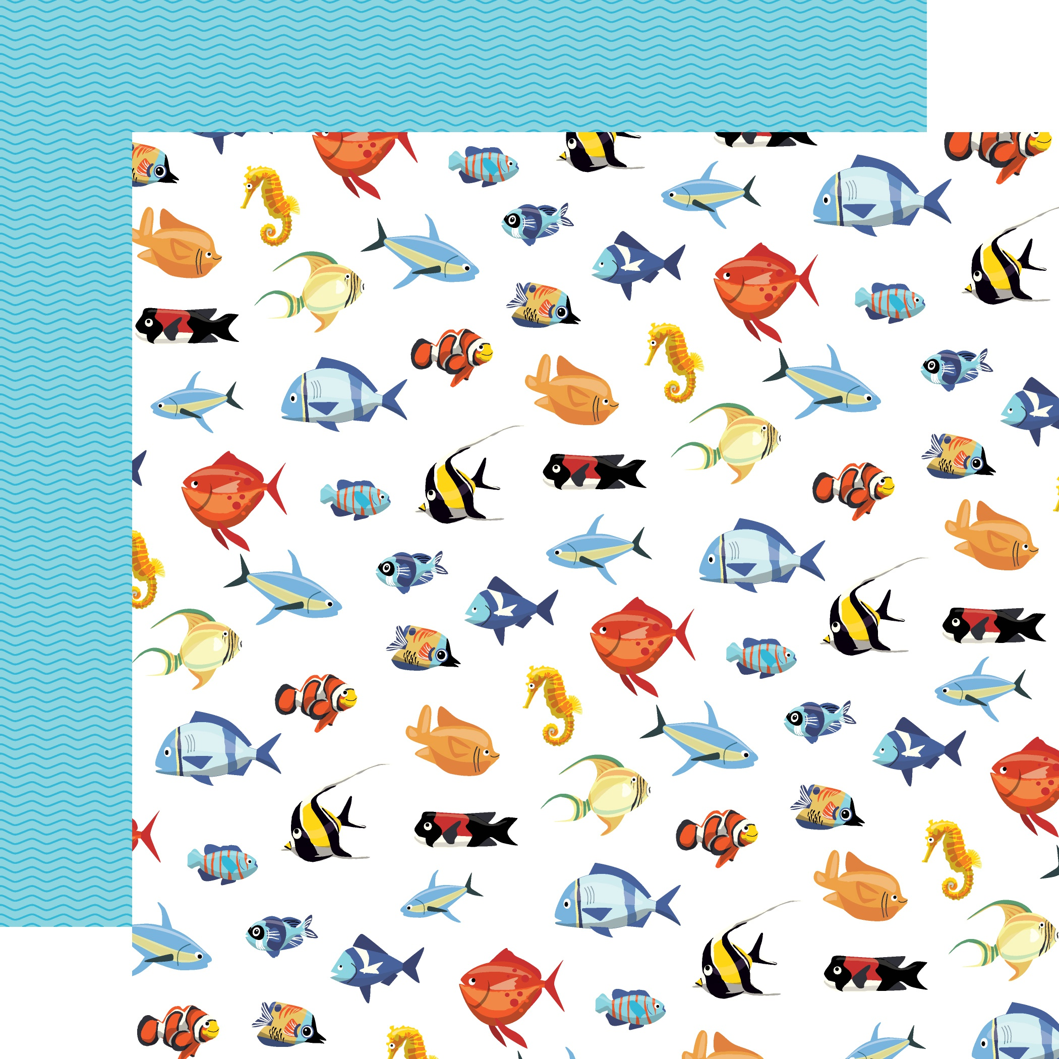Fish Are Friends Double-Sided Cardstock 12X12-Fish March